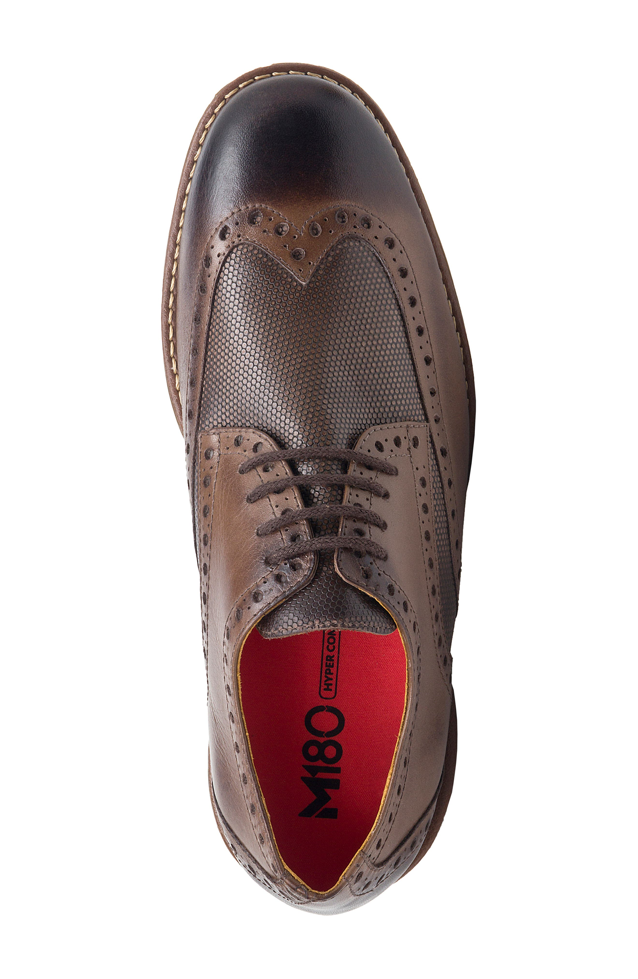 SANDRO MOSCOLONI, Martin Wingtip, Alternate thumbnail 5, color, BROWN LEATHER