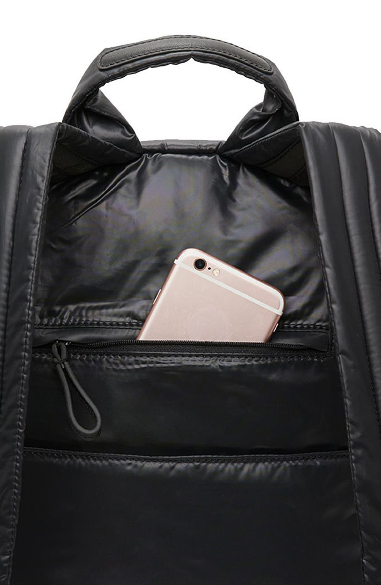 CARAA, Stratus Waterproof Backpack, Alternate thumbnail 11, color, BLACK