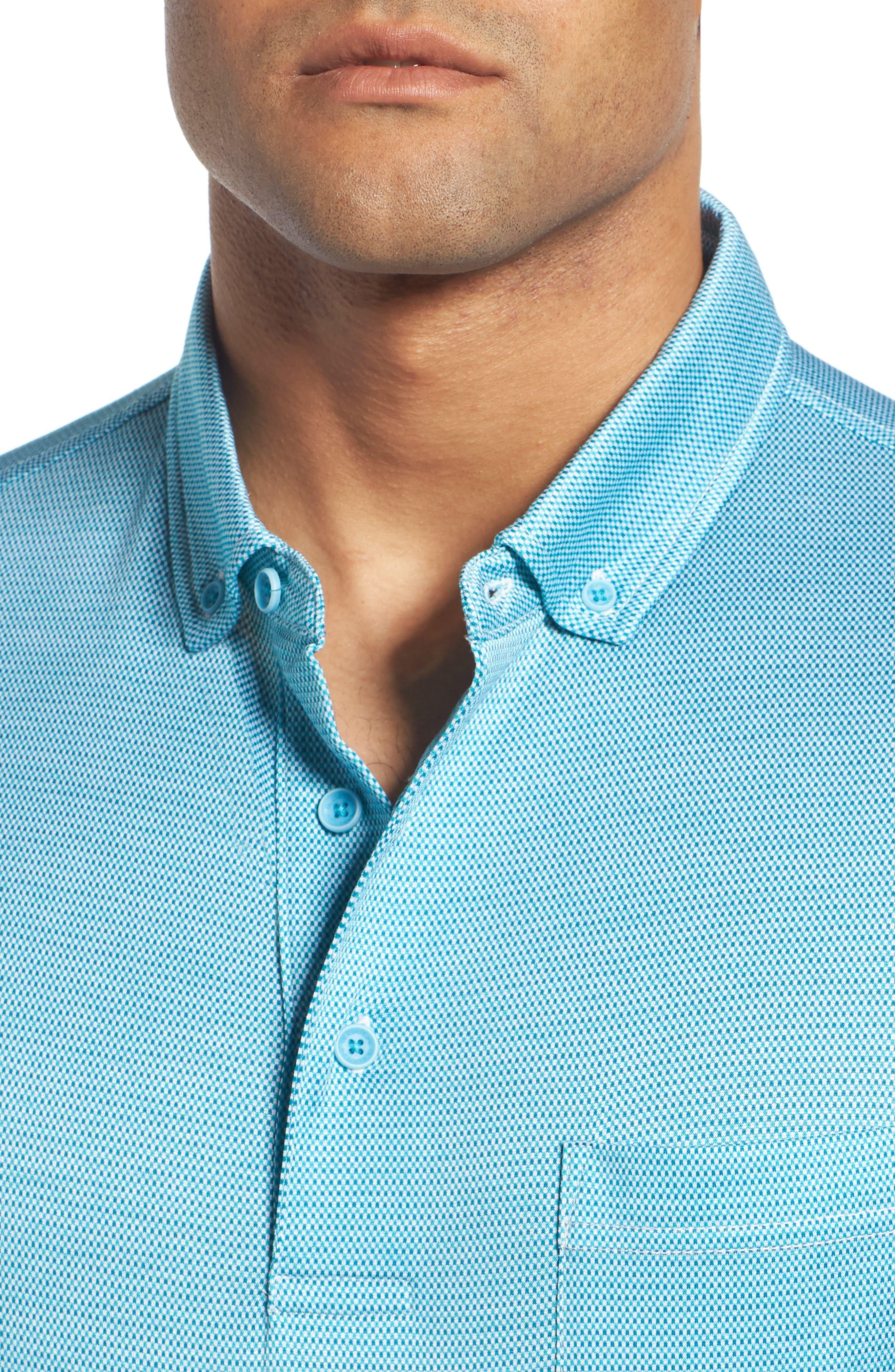 BUGATCHI, Dot Mercerized Cotton Polo, Alternate thumbnail 4, color, 425