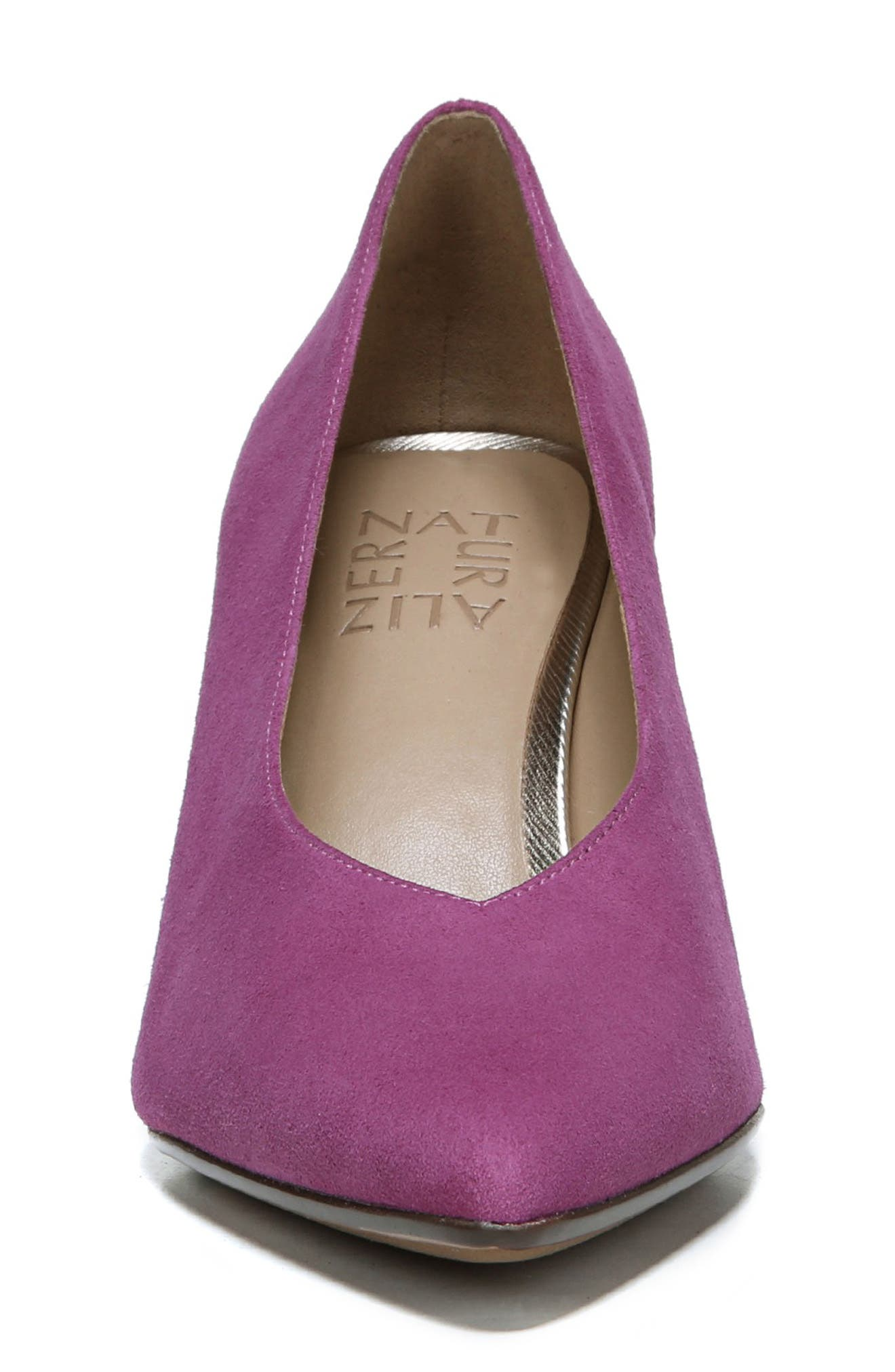 NATURALIZER, Hope Pointy Toe Pump, Alternate thumbnail 4, color, PINK SUEDE