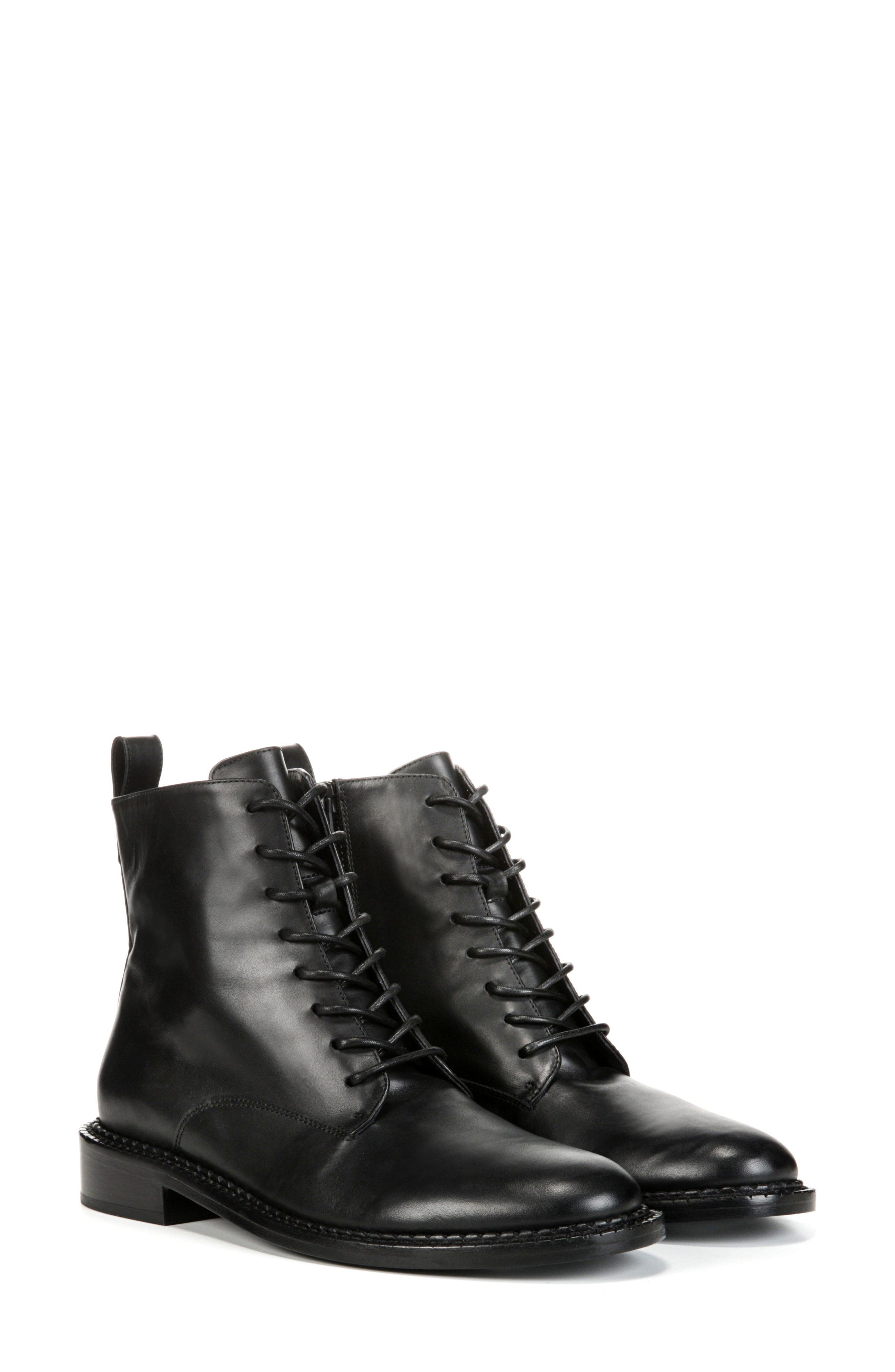 VINCE, Cabria Lace-Up Boot, Alternate thumbnail 7, color, BLACK