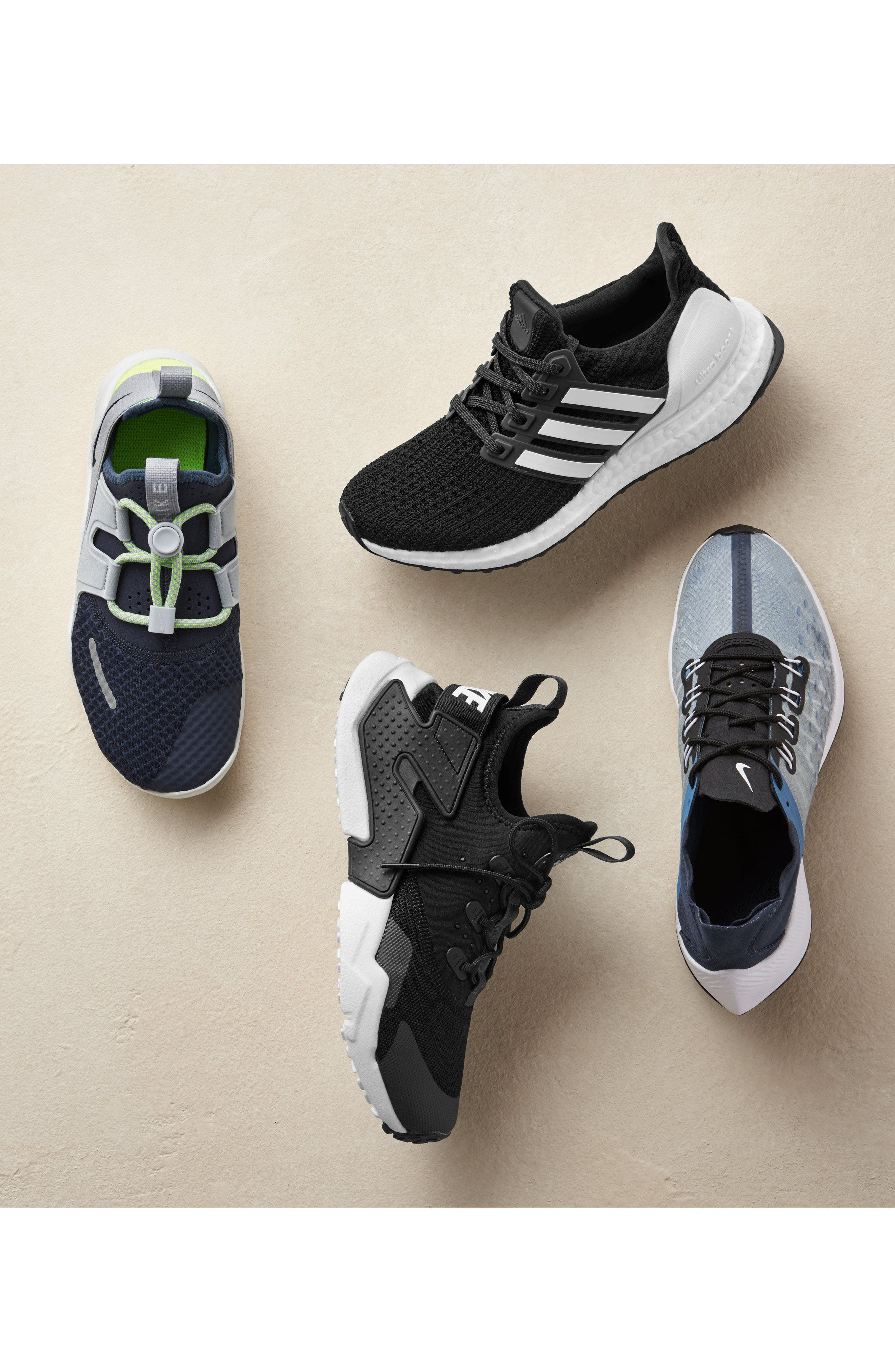 ADIDAS, UltraBoost Sneaker, Alternate thumbnail 7, color, 001