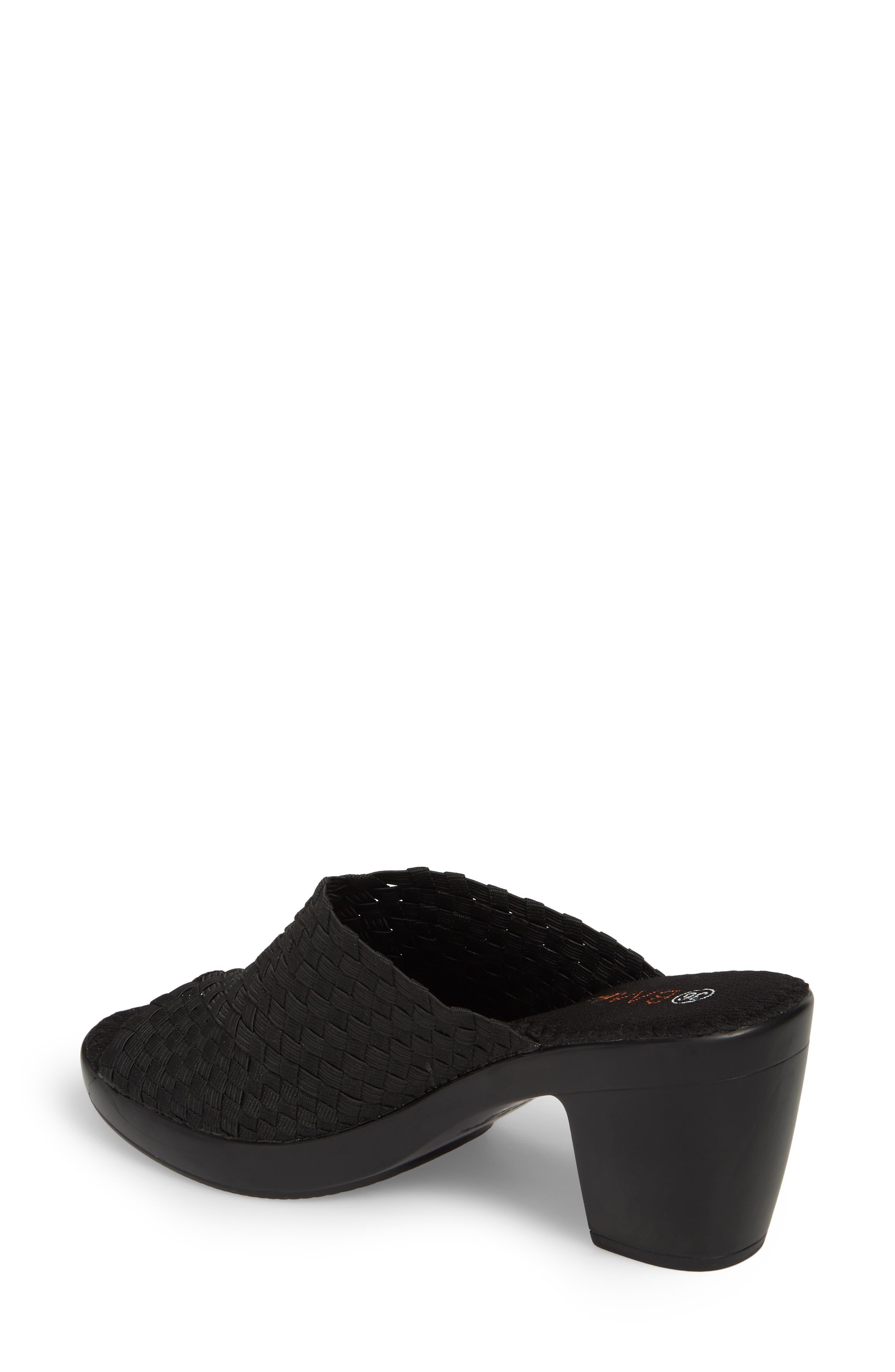 BERNIE MEV., Sun Texas Sandal, Alternate thumbnail 2, color, BLACK FABRIC