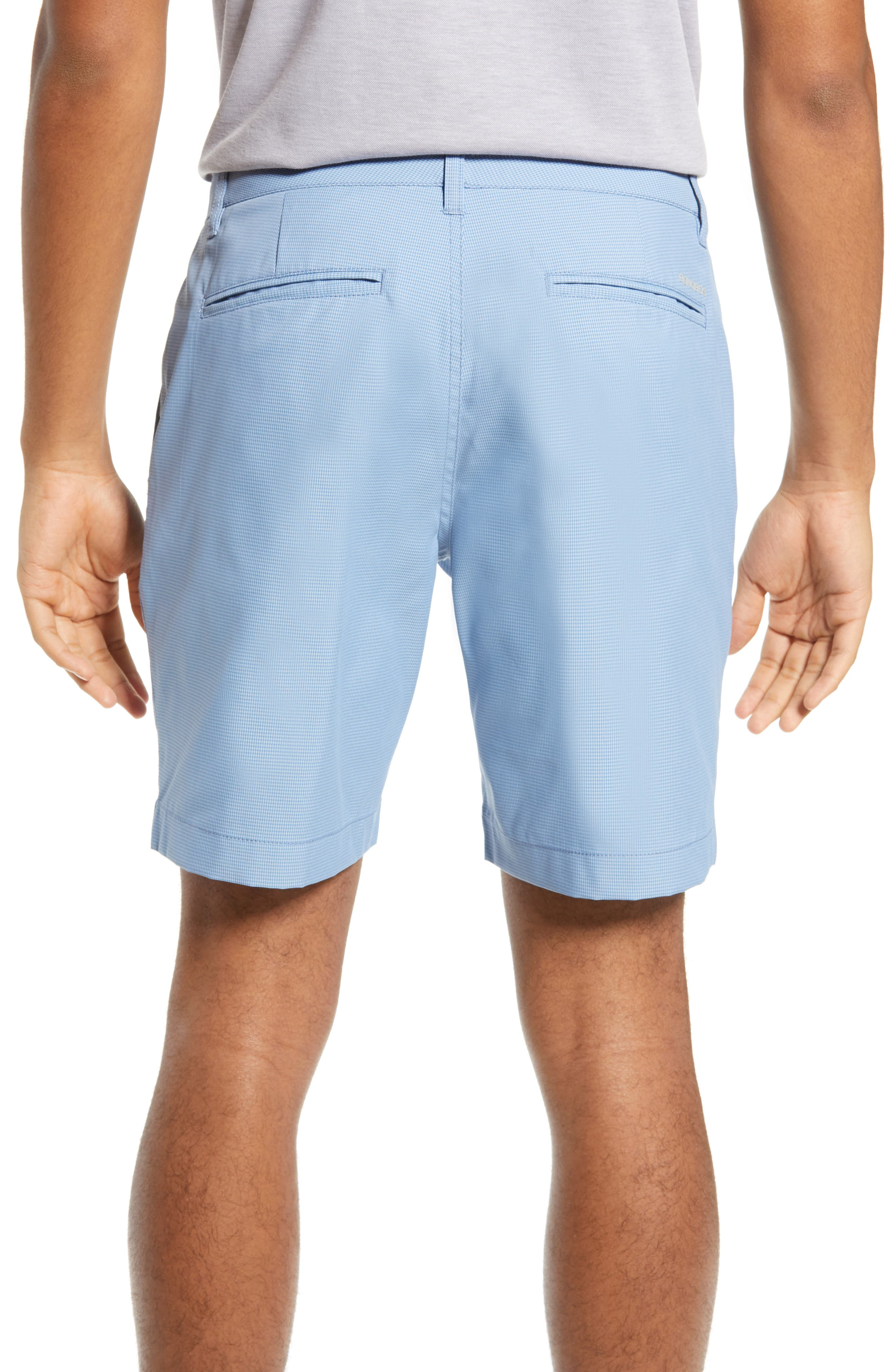 BONOBOS, The Highland Micro Houndstooth Golf Shorts, Alternate thumbnail 2, color, BLUE MINICHECK C3