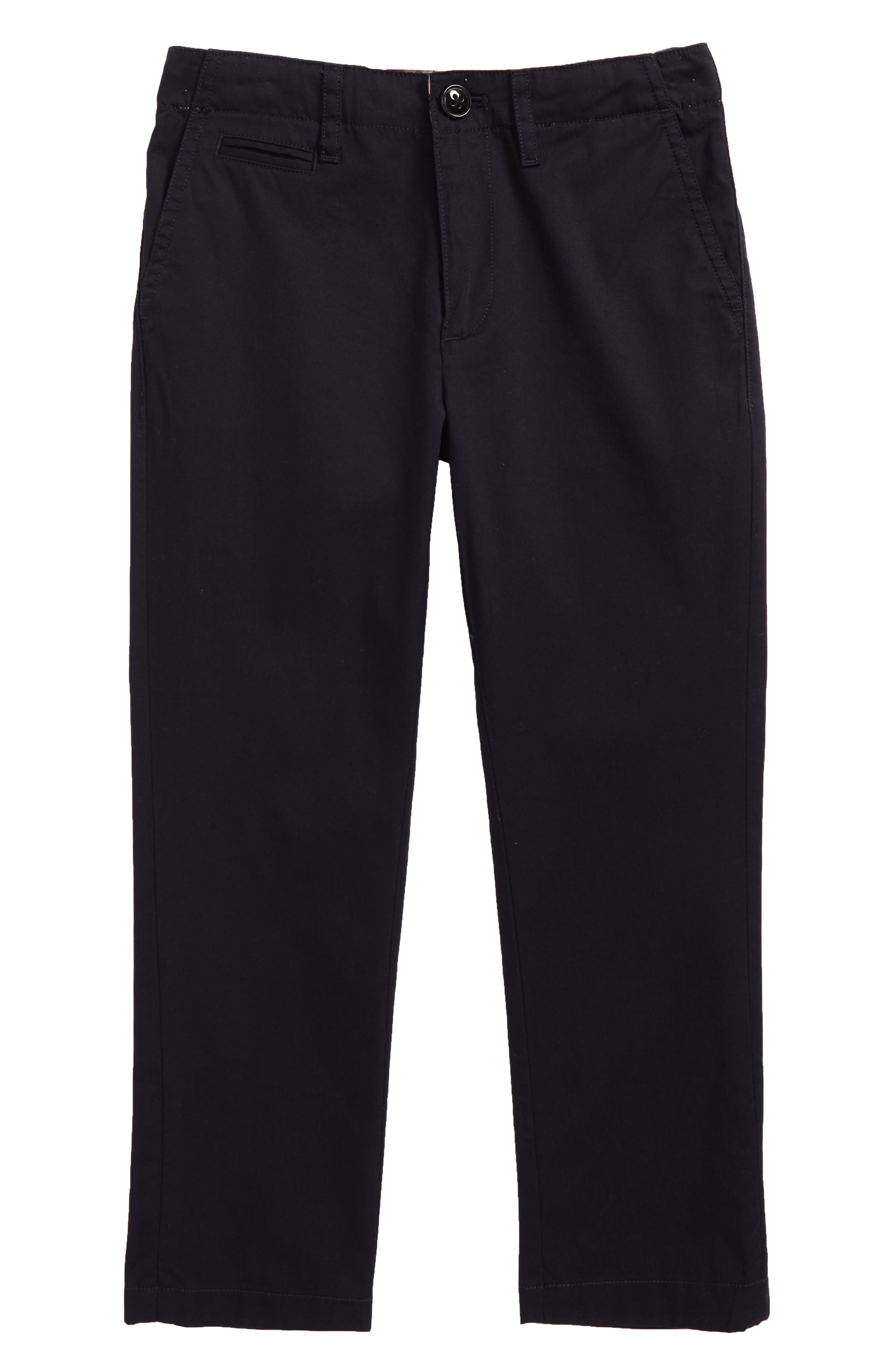 BURBERRY Teo Straight Leg Pants, Main, color, INK