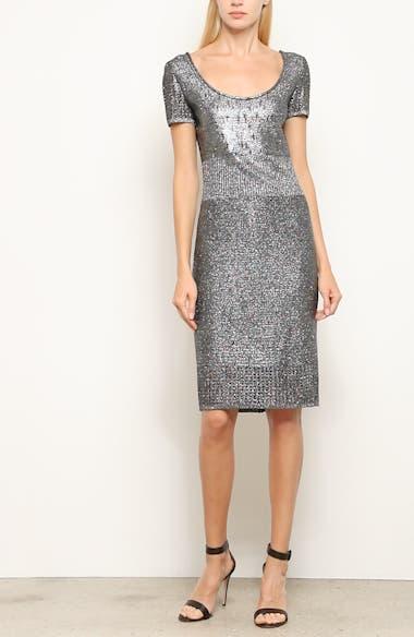 Metallic Plaited Mixed Knit Dress, video thumbnail