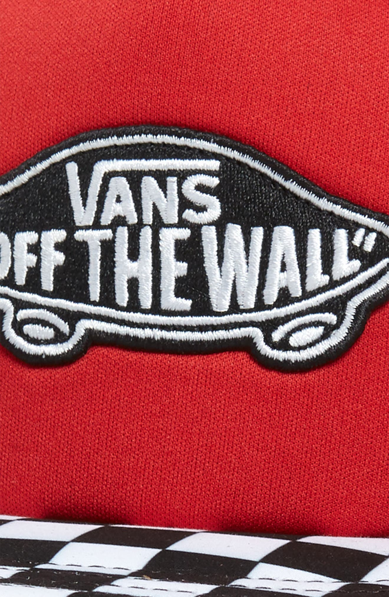 VANS, Classic Patch Trucker Hat, Alternate thumbnail 3, color, RACING RED
