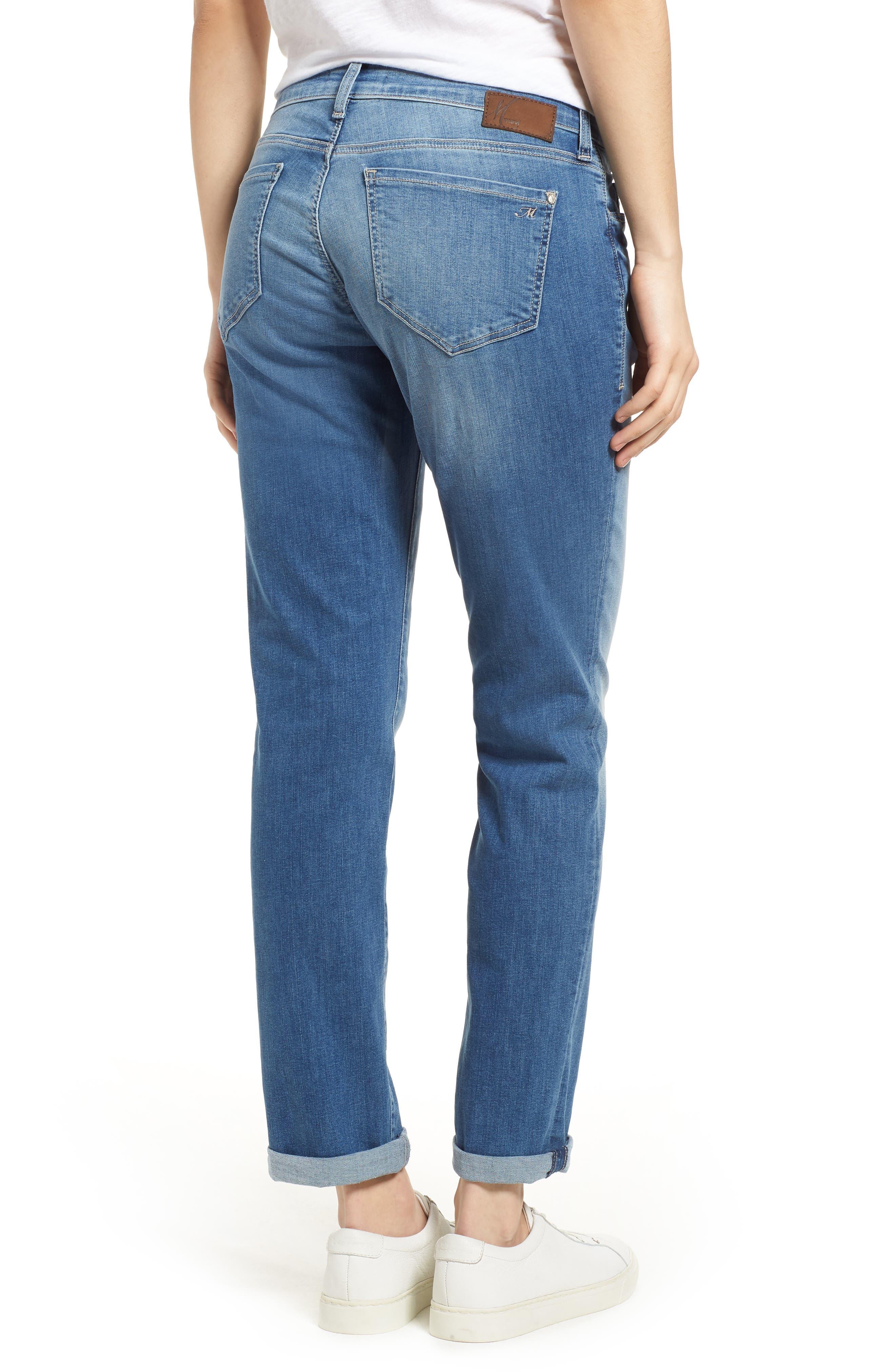 MAVI JEANS, Emma Slim Boyfriend Jeans, Alternate thumbnail 2, color, INDIGO RIPPED NOLITA