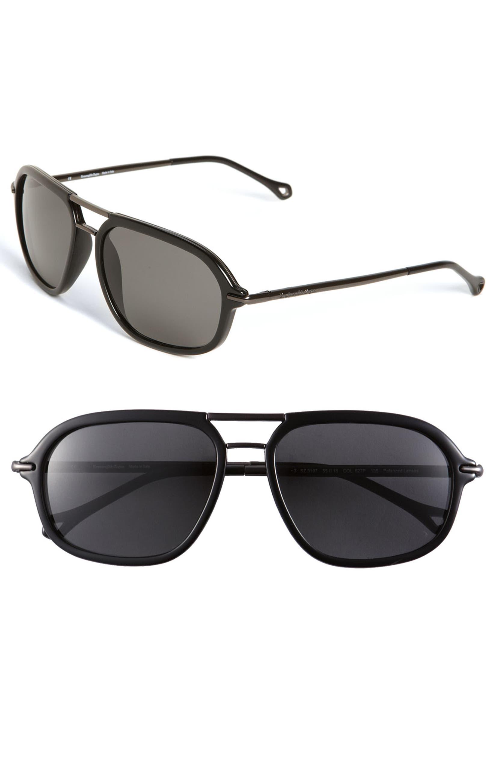 4ecb720b Ermenegildo Zegna 'Modern Navigator' Sunglasses | Nordstrom