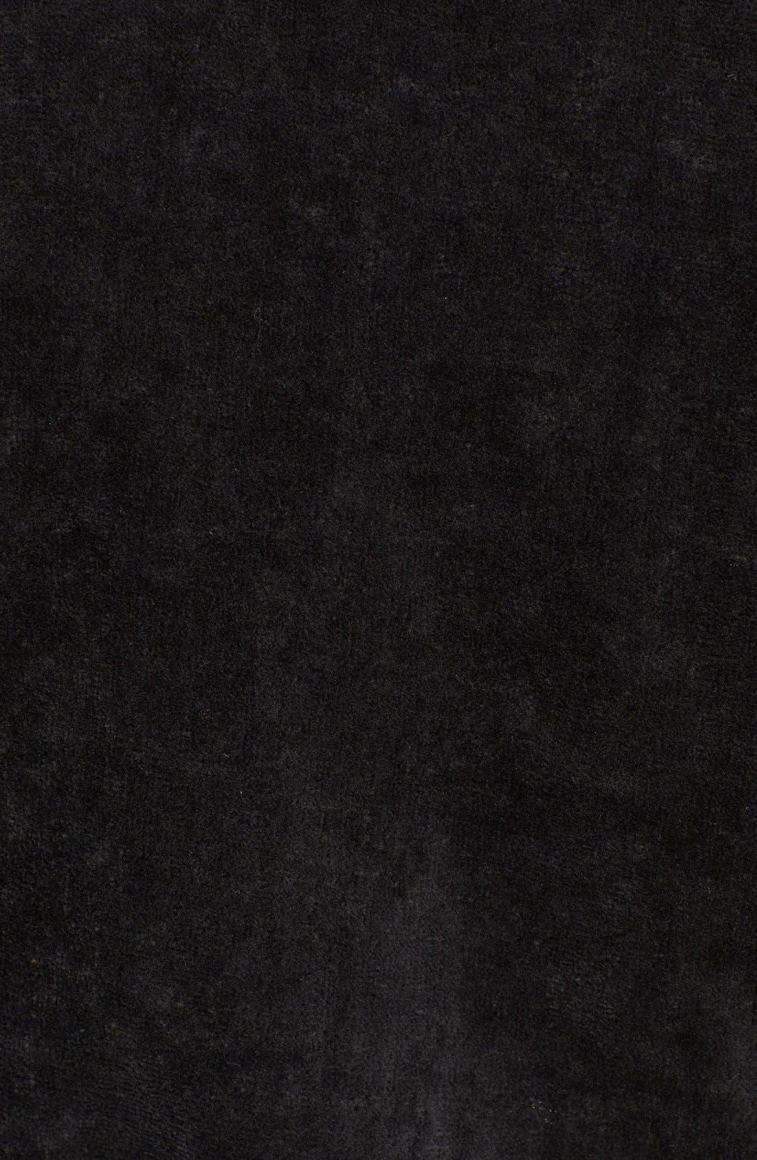 POLO RALPH LAUREN, Cotton Fleece Robe, Alternate thumbnail 2, color, POLO BLACK