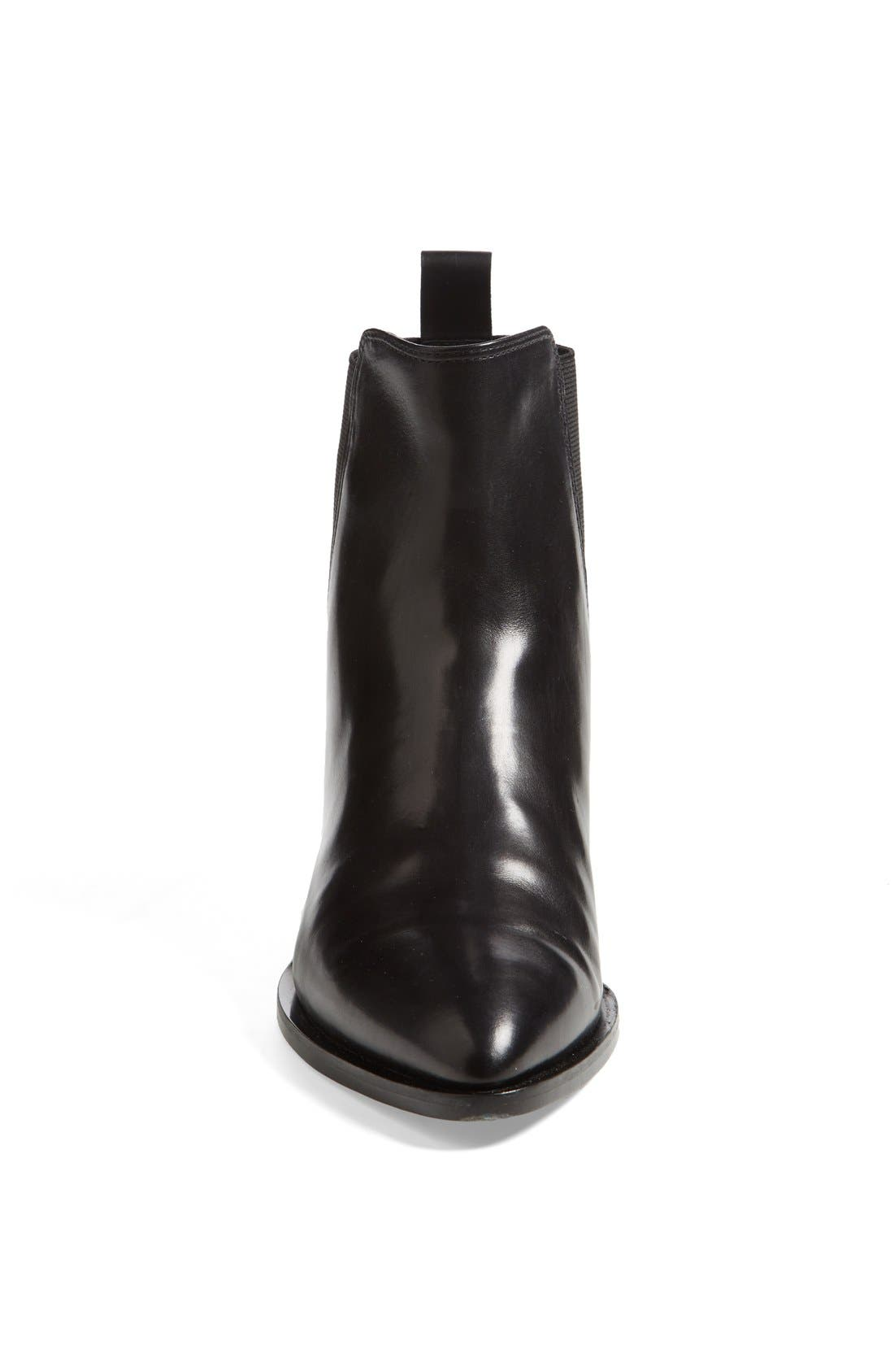 VINCE, 'Yarmon' Almond Toe Calfskin Leather Chelsea Boot, Alternate thumbnail 2, color, 002