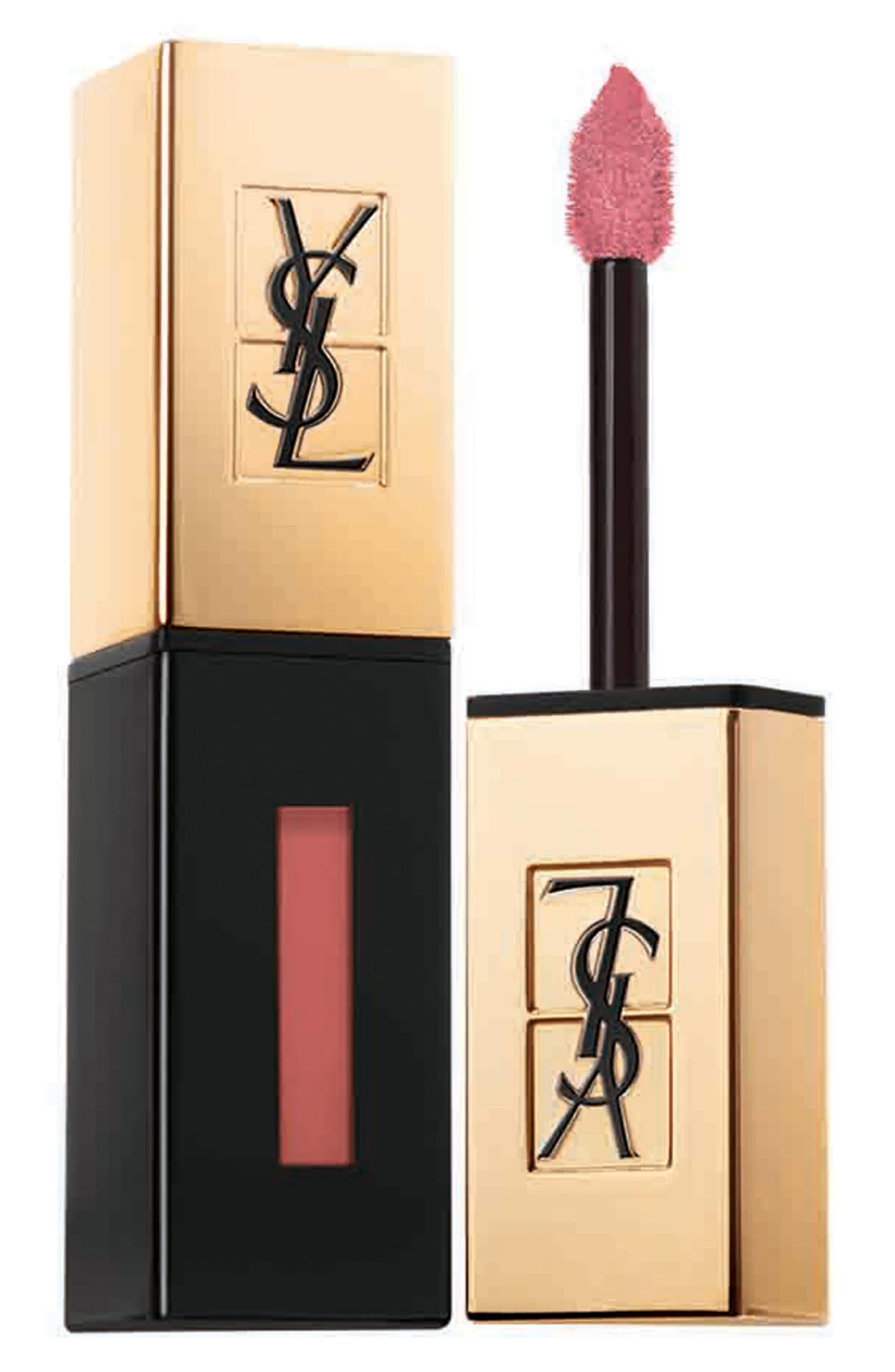YVES SAINT LAURENT, Glossy Stain Lip Color, Main thumbnail 1, color, 07 CORAIL AQUATIQUE