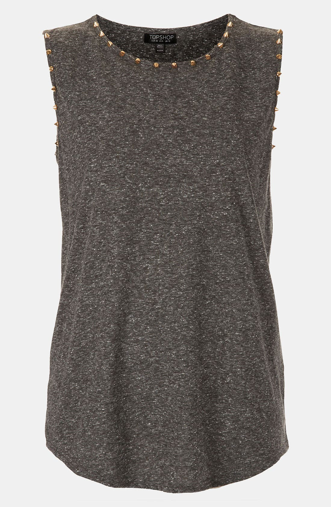 TOPSHOP, Stud Trim Tank, Main thumbnail 1, color, 020