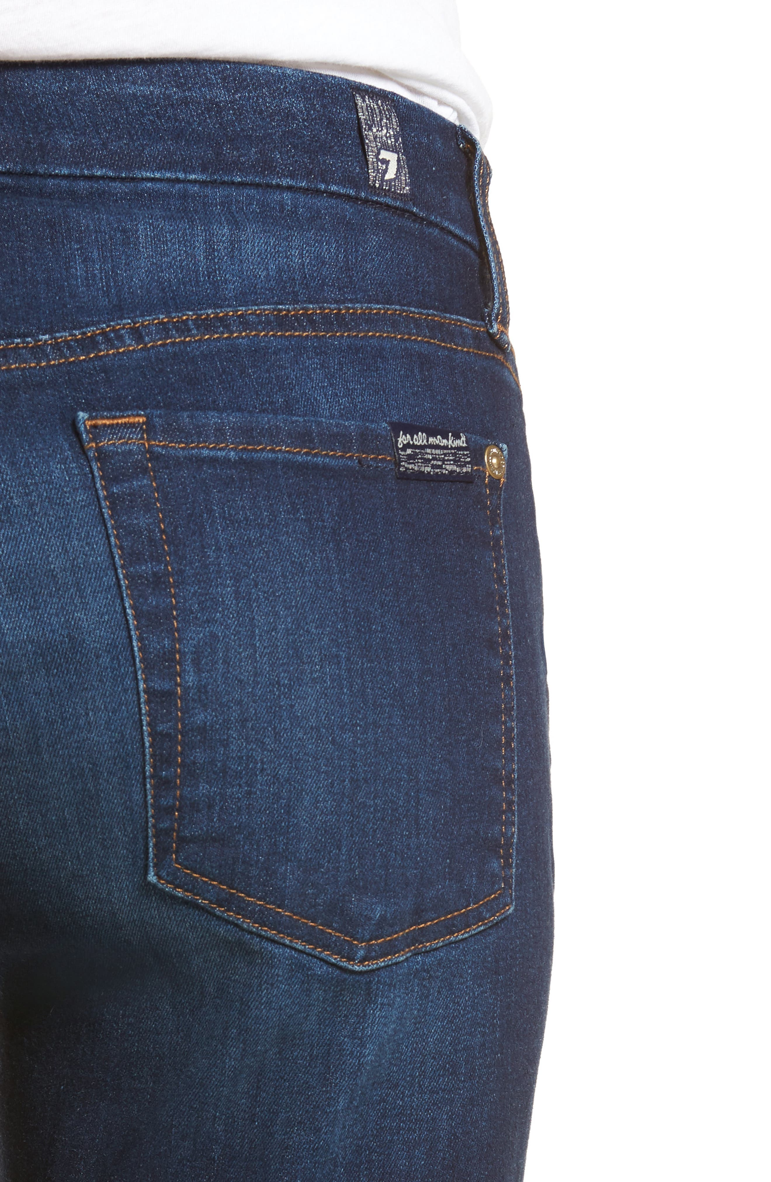 7 FOR ALL MANKIND<SUP>®</SUP>, b(air) High Waist Skinny Jeans, Alternate thumbnail 5, color, MORENO