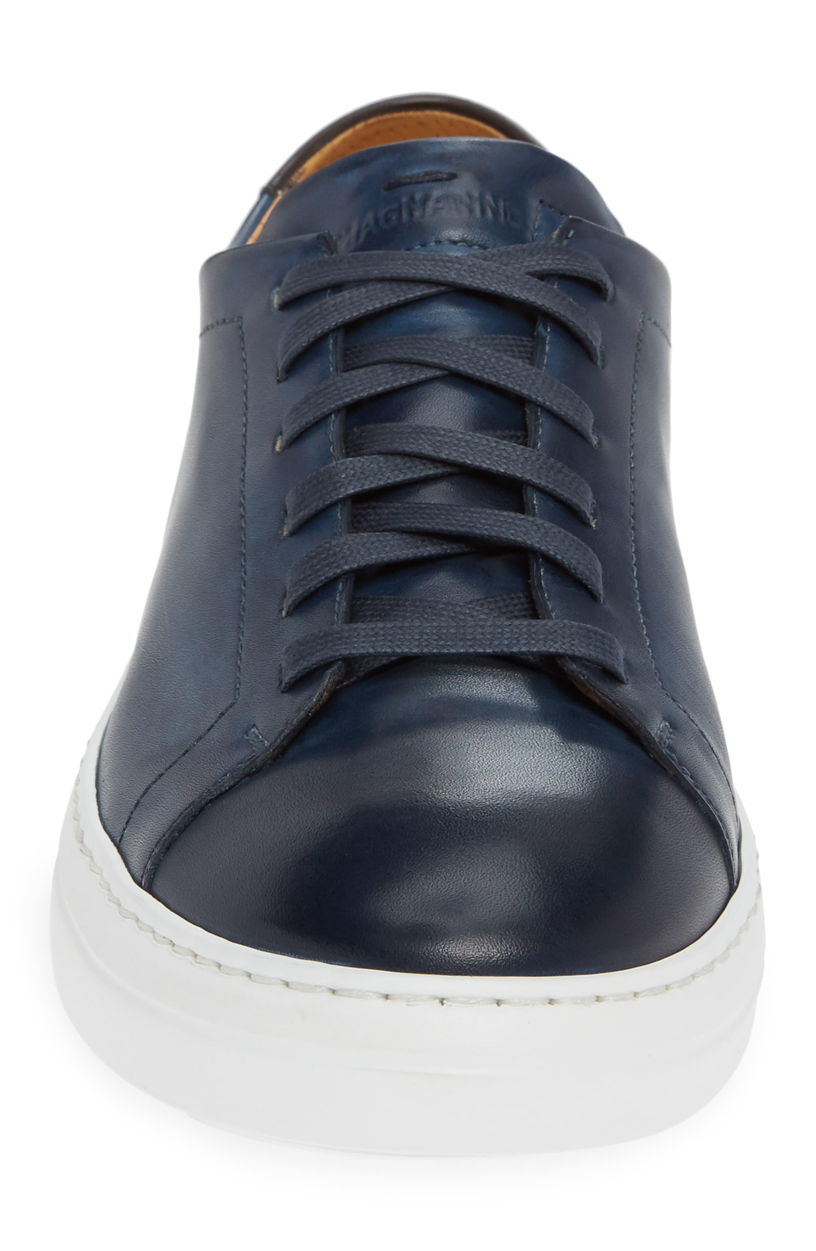 MAGNANNI, Bartolo Sneaker, Alternate thumbnail 4, color, NAVY LEATHER