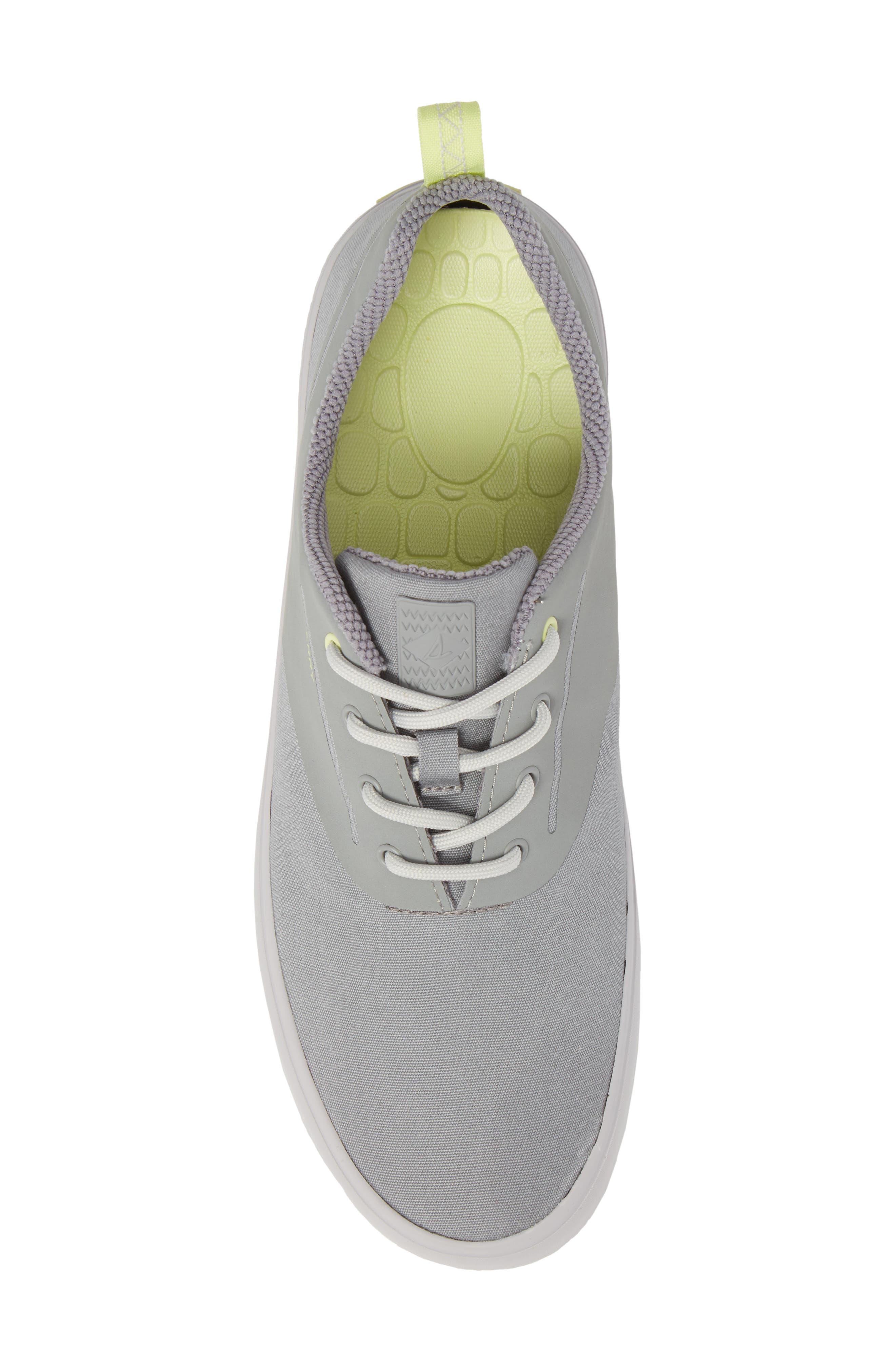 SPERRY, Flex Deck CVO Sneaker, Alternate thumbnail 5, color, GREY
