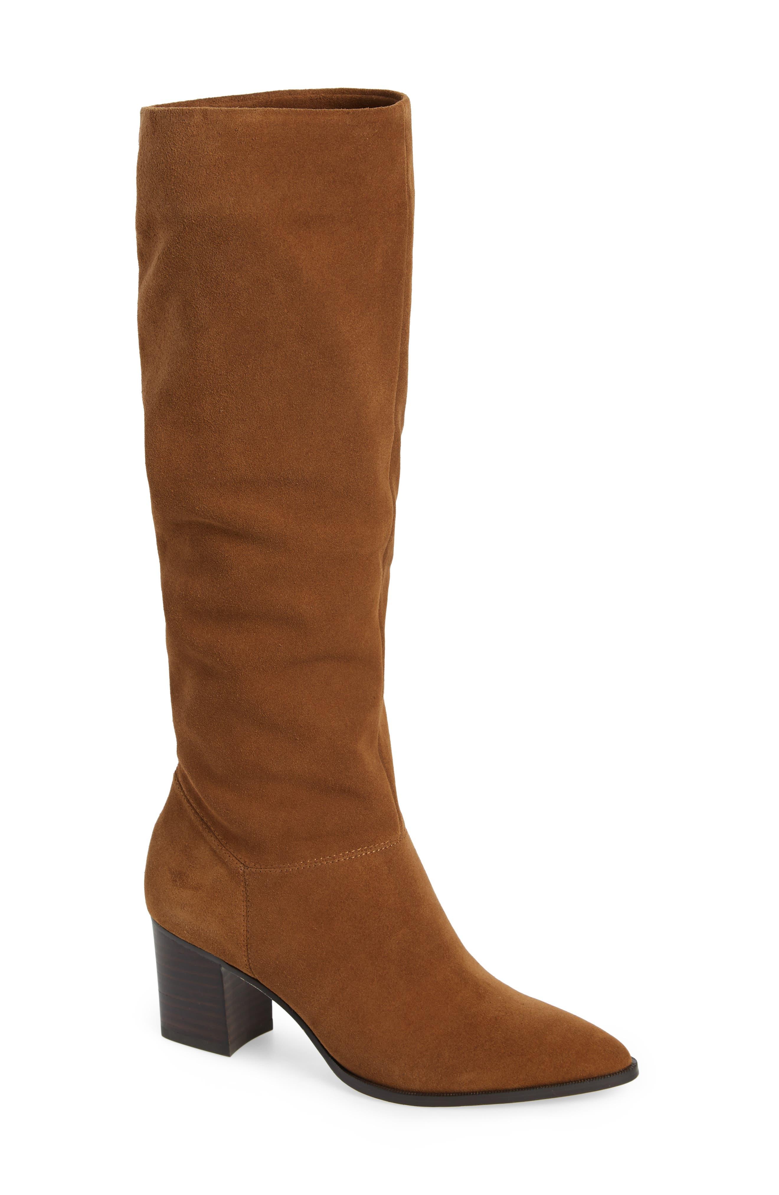 Sole Society Danilynn Knee High Boot- Brown