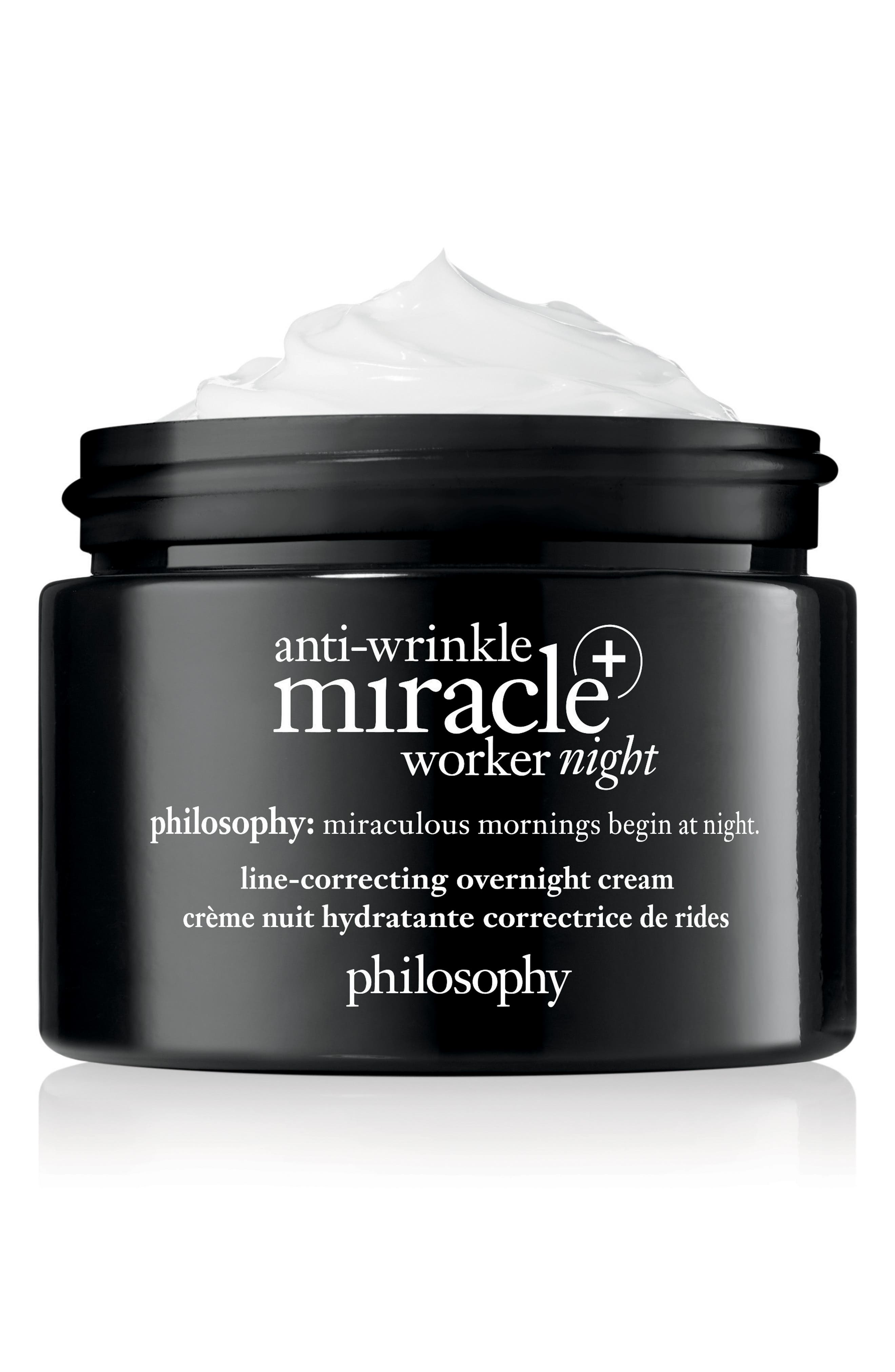 PHILOSOPHY, anti-wrinkle miracle worker night + line-correcting overnight cream, Alternate thumbnail 2, color, NO COLOR
