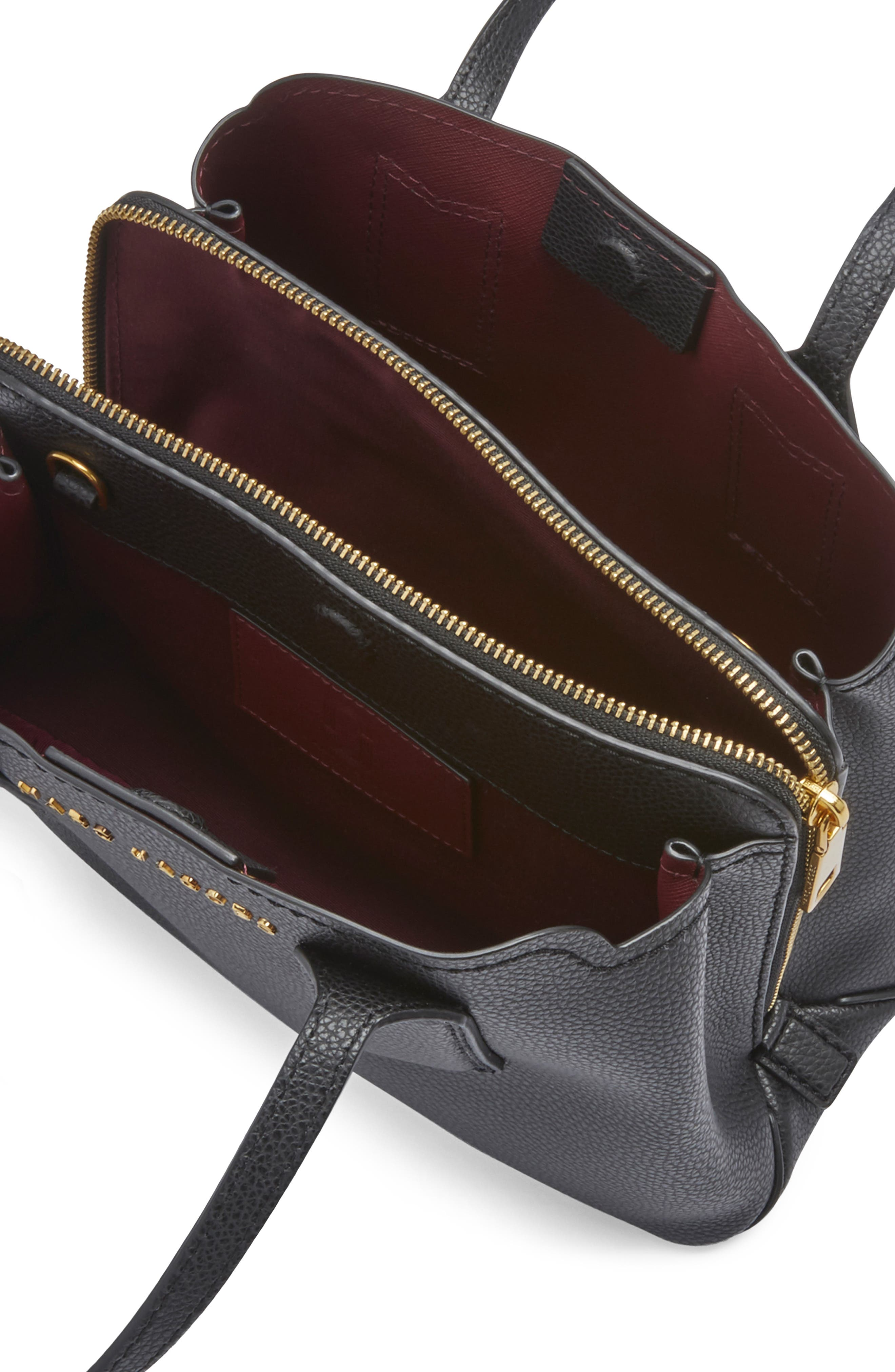 MARC JACOBS, The Editor 29 Leather Crossbody Bag, Alternate thumbnail 5, color, BLACK