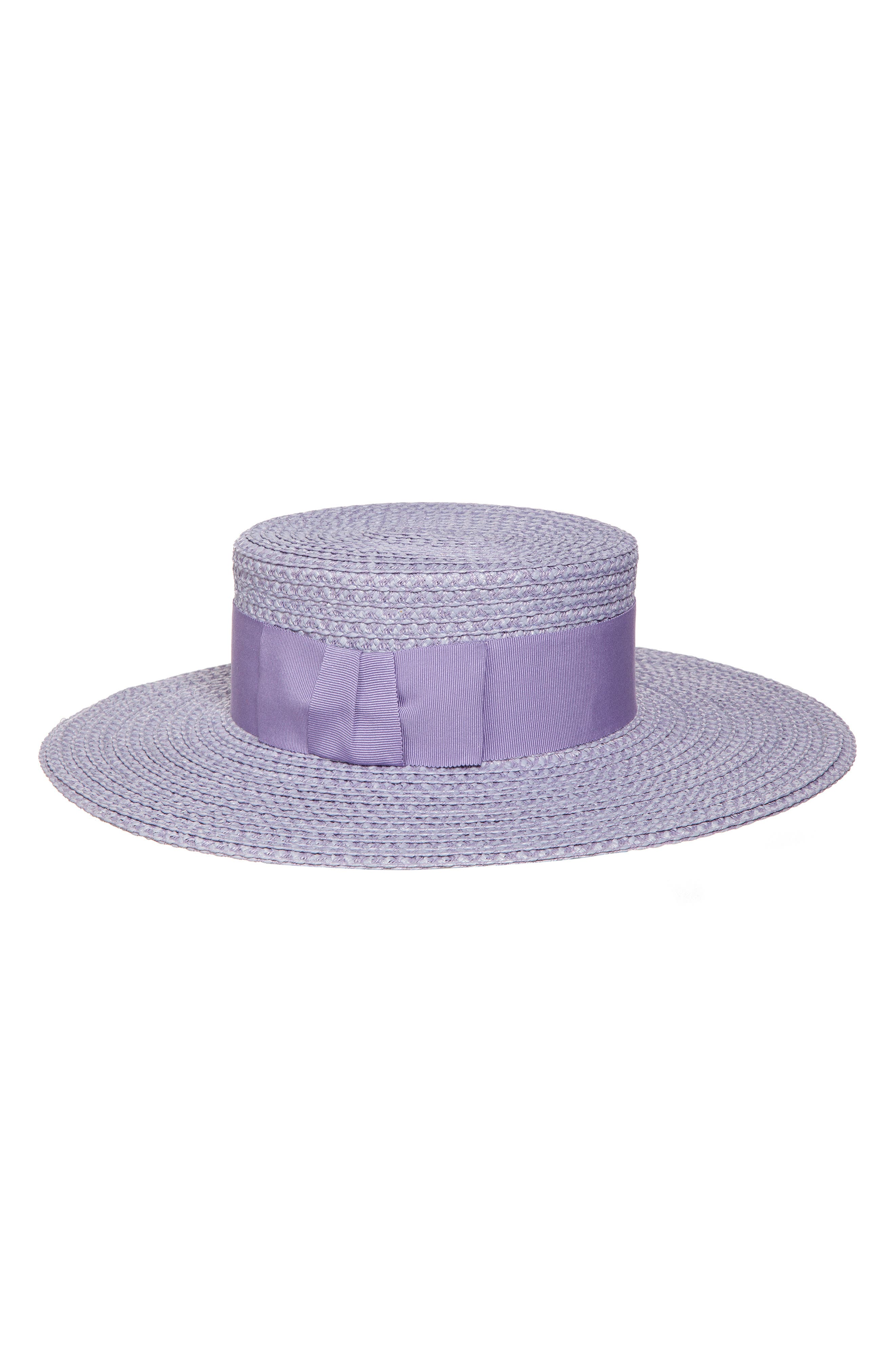 ERIC JAVITS, 'Gondolier' Boater Hat, Main thumbnail 1, color, LILAC