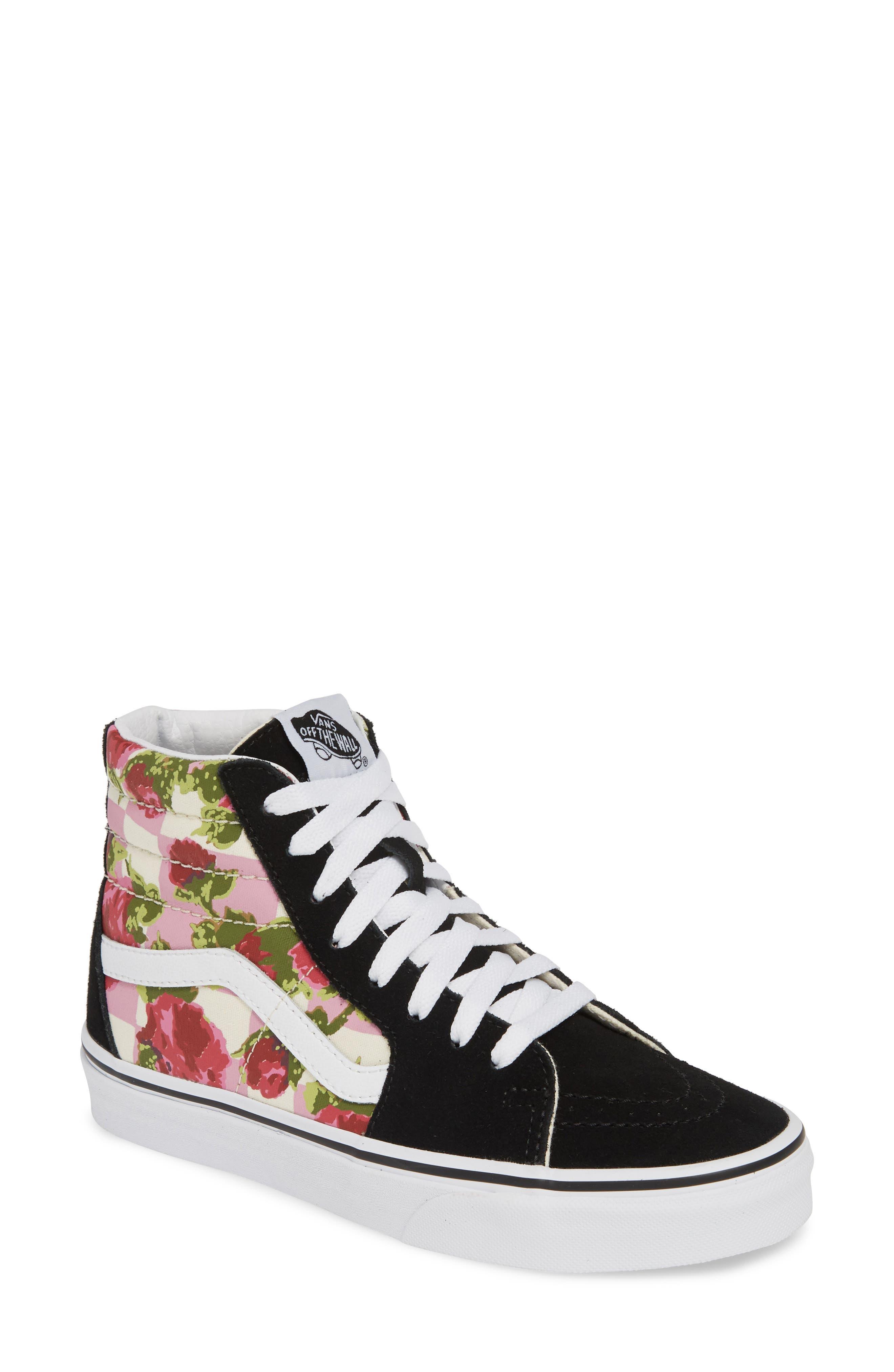 VANS, Sk8-Hi Floral Sneaker, Main thumbnail 1, color, FLORAL MULTI/ TRUE WHITE