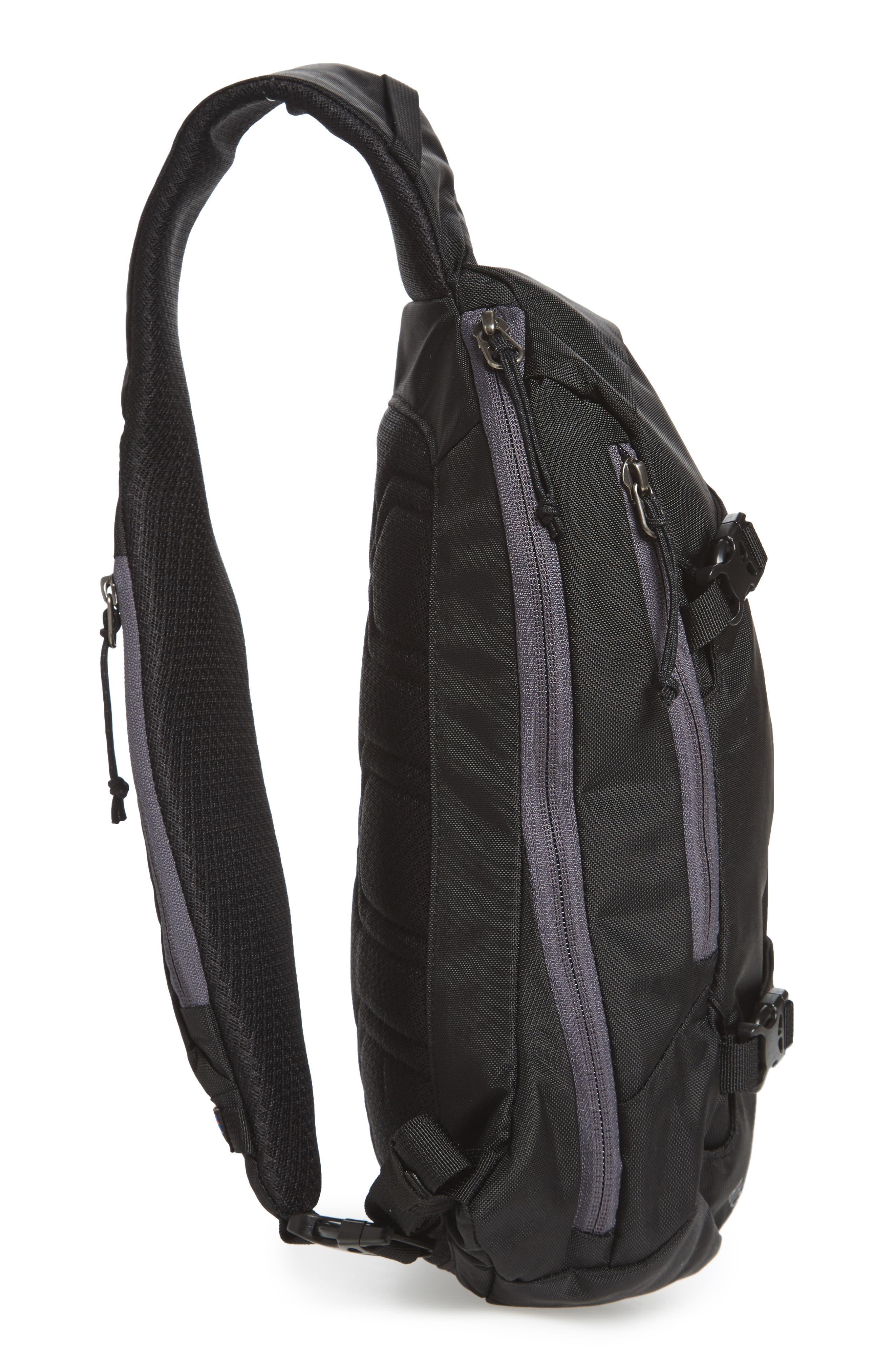PATAGONIA, Atom 8L Sling Backpack, Alternate thumbnail 6, color, BLACK