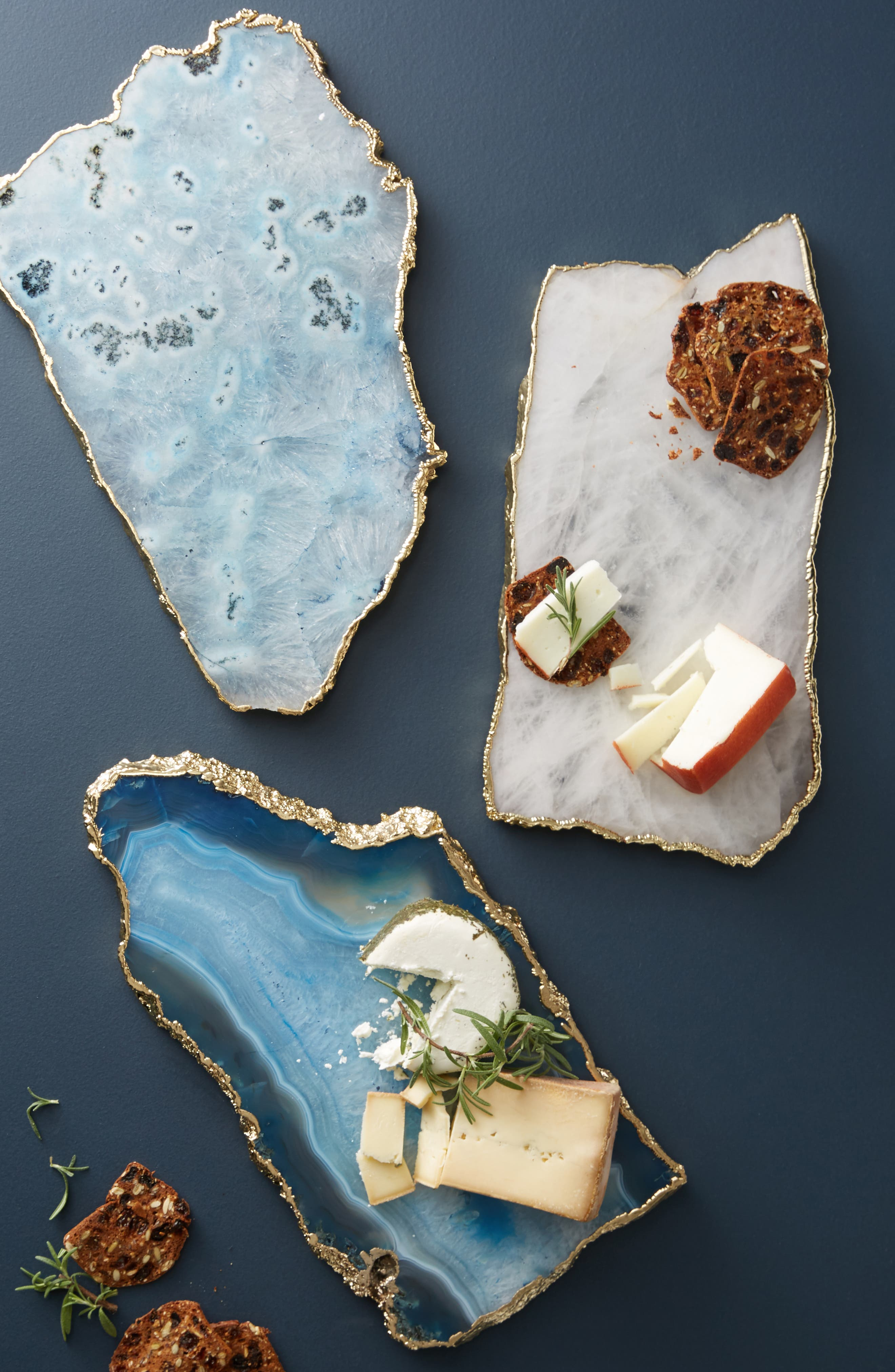 ANTHROPOLOGIE Agate Cheese Board, Main, color, SKY
