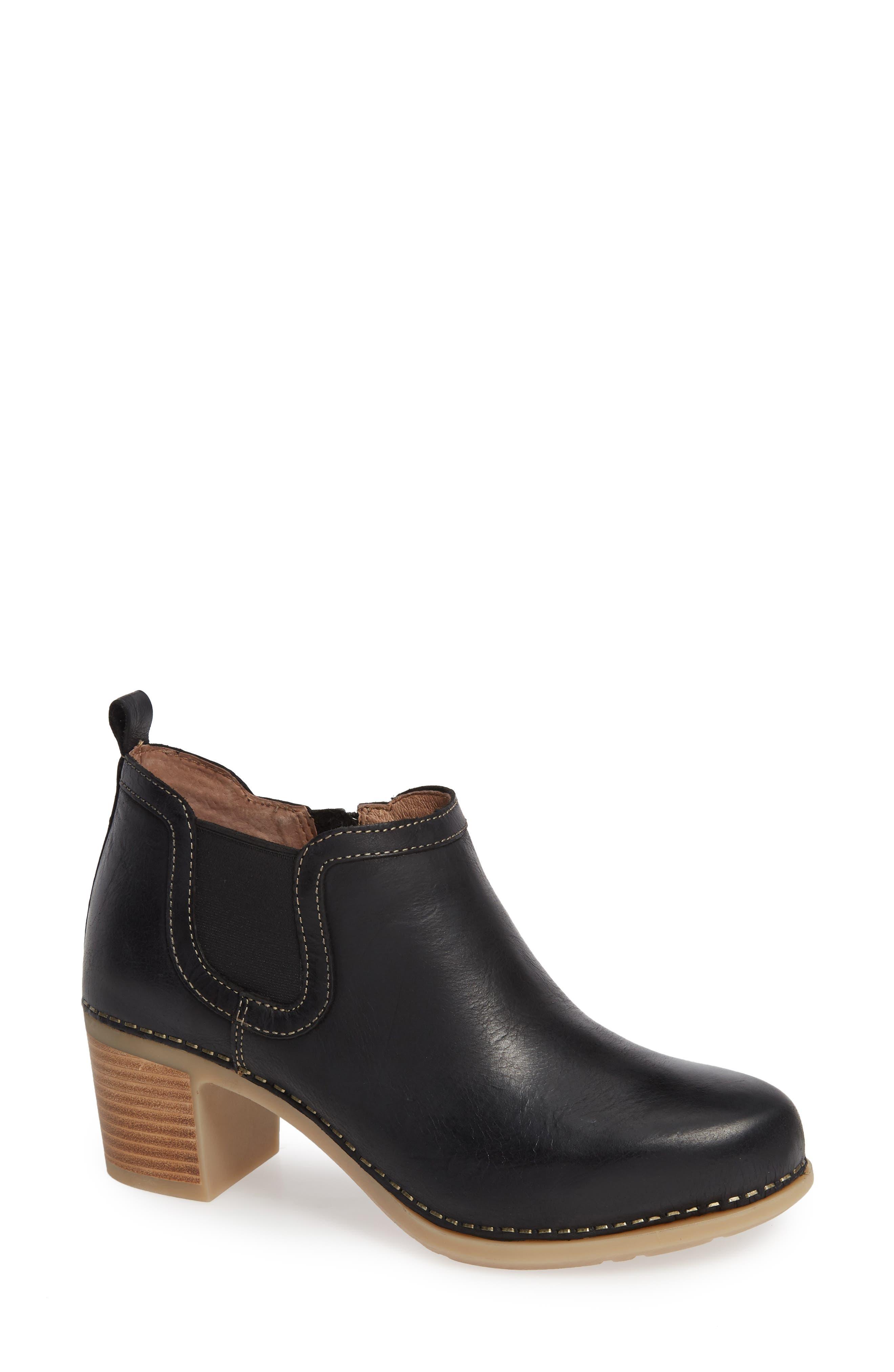 DANSKO Harlene Block Heel Bootie, Main, color, 001