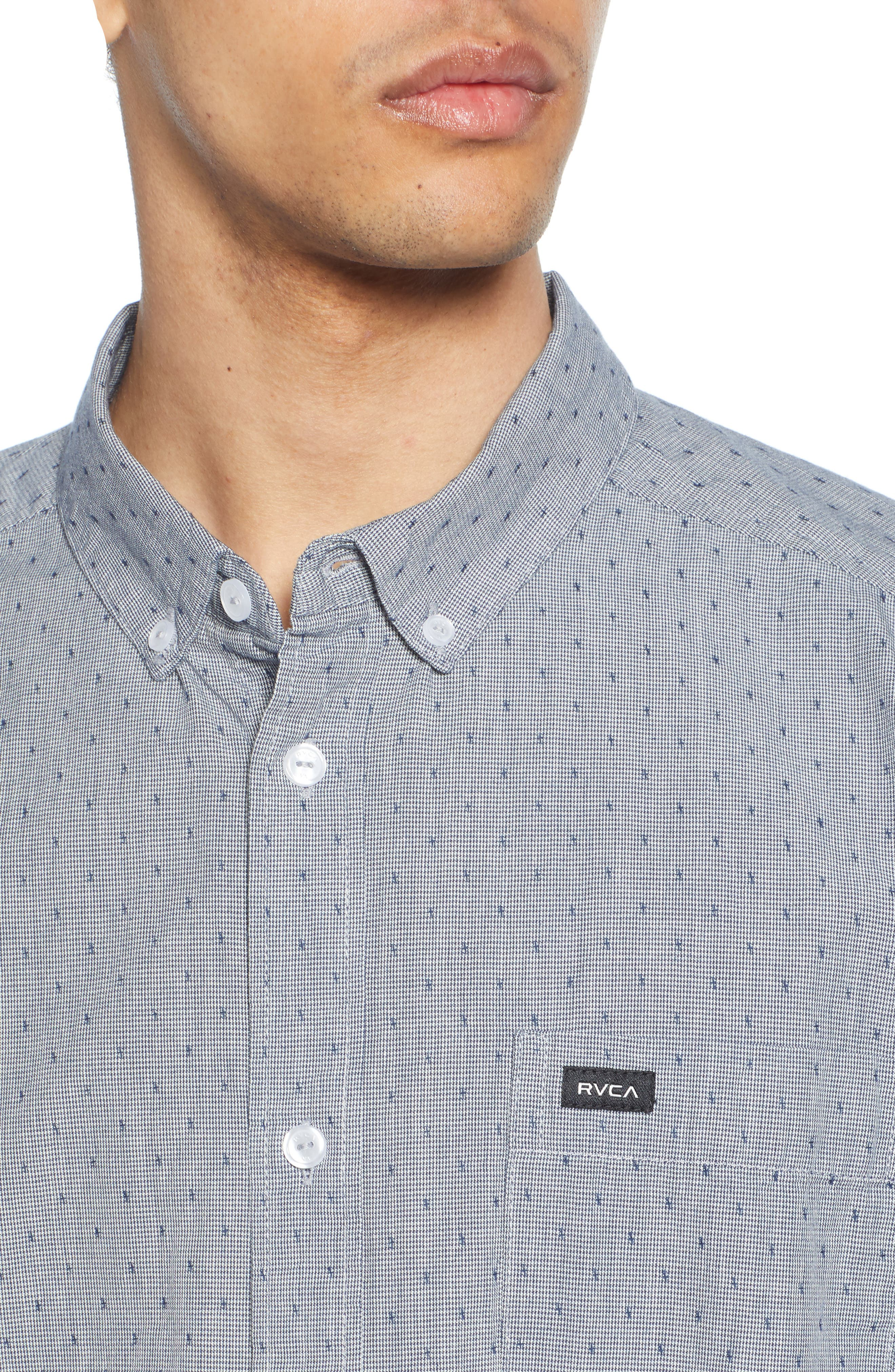 RVCA, That'll Do Dobby Short Sleeve Sport Shirt, Alternate thumbnail 2, color, SEATTLE BLUE
