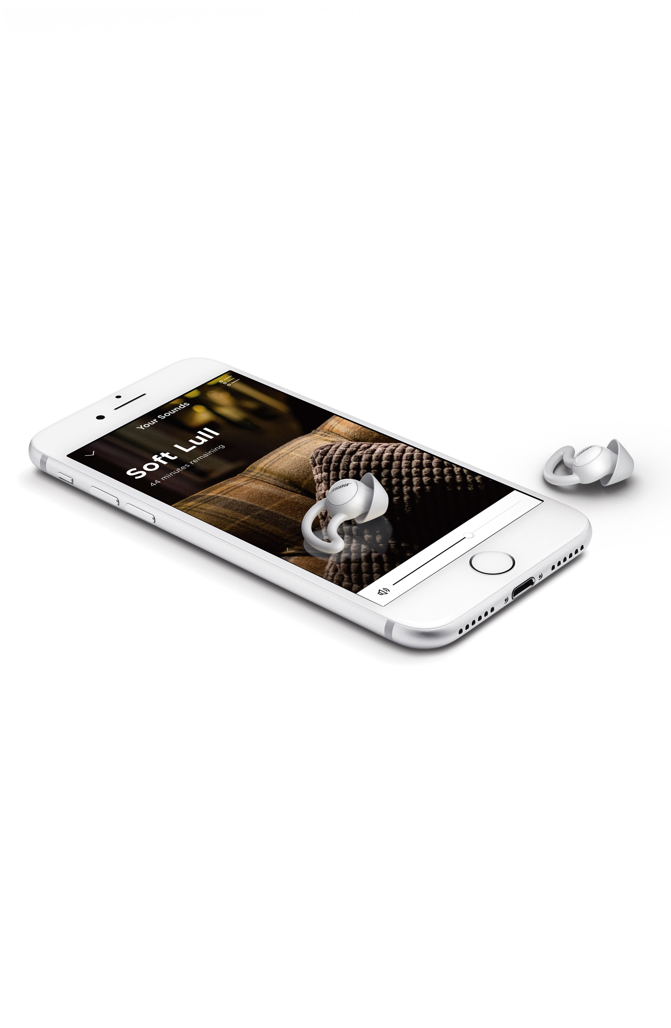 BOSE<SUP>®</SUP>, Noise Masking Sleepbuds, Alternate thumbnail 8, color, WHITE AND SILVER