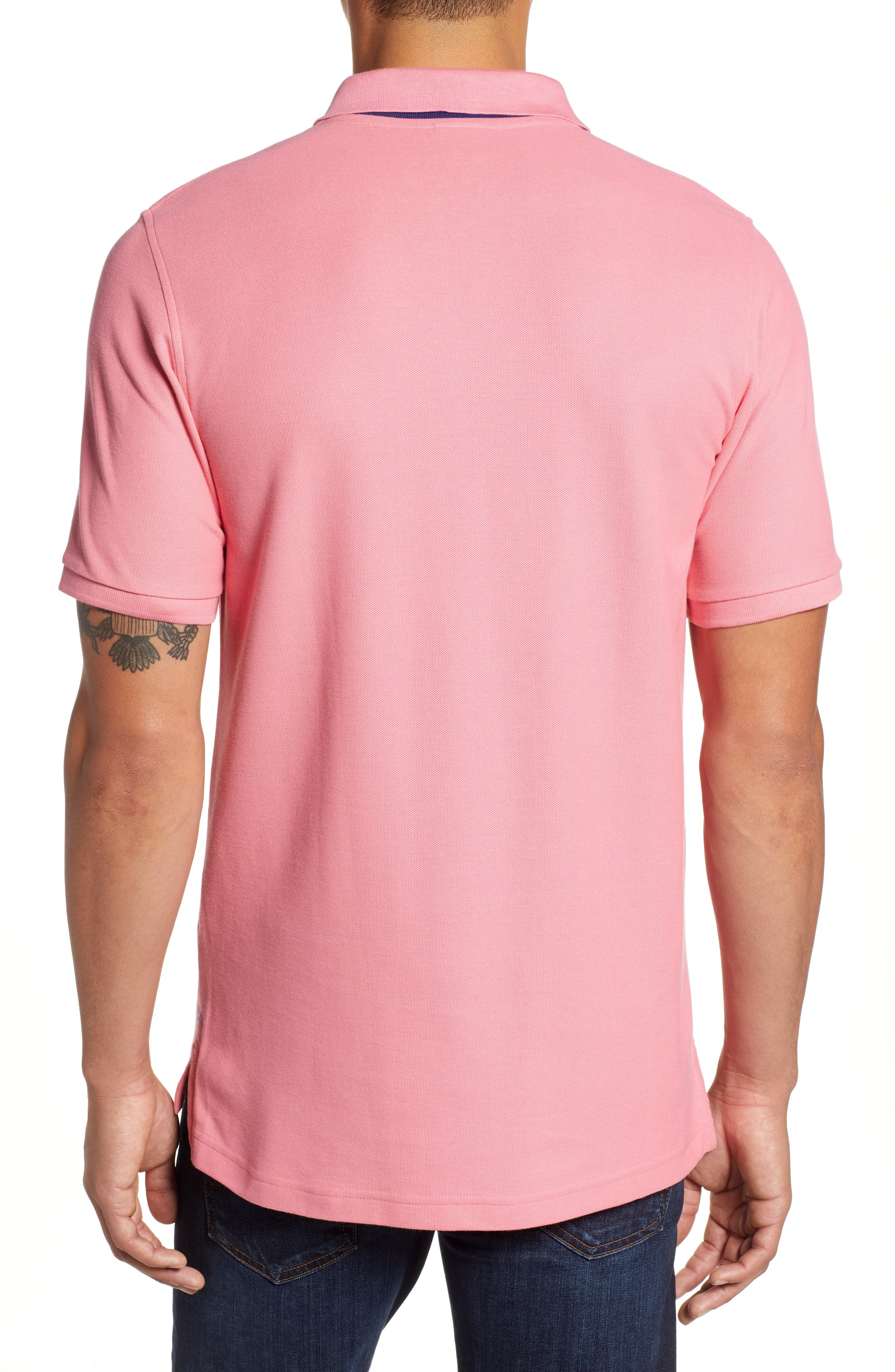 PSYCHO BUNNY, Classic Polo Shirt, Alternate thumbnail 2, color, 498