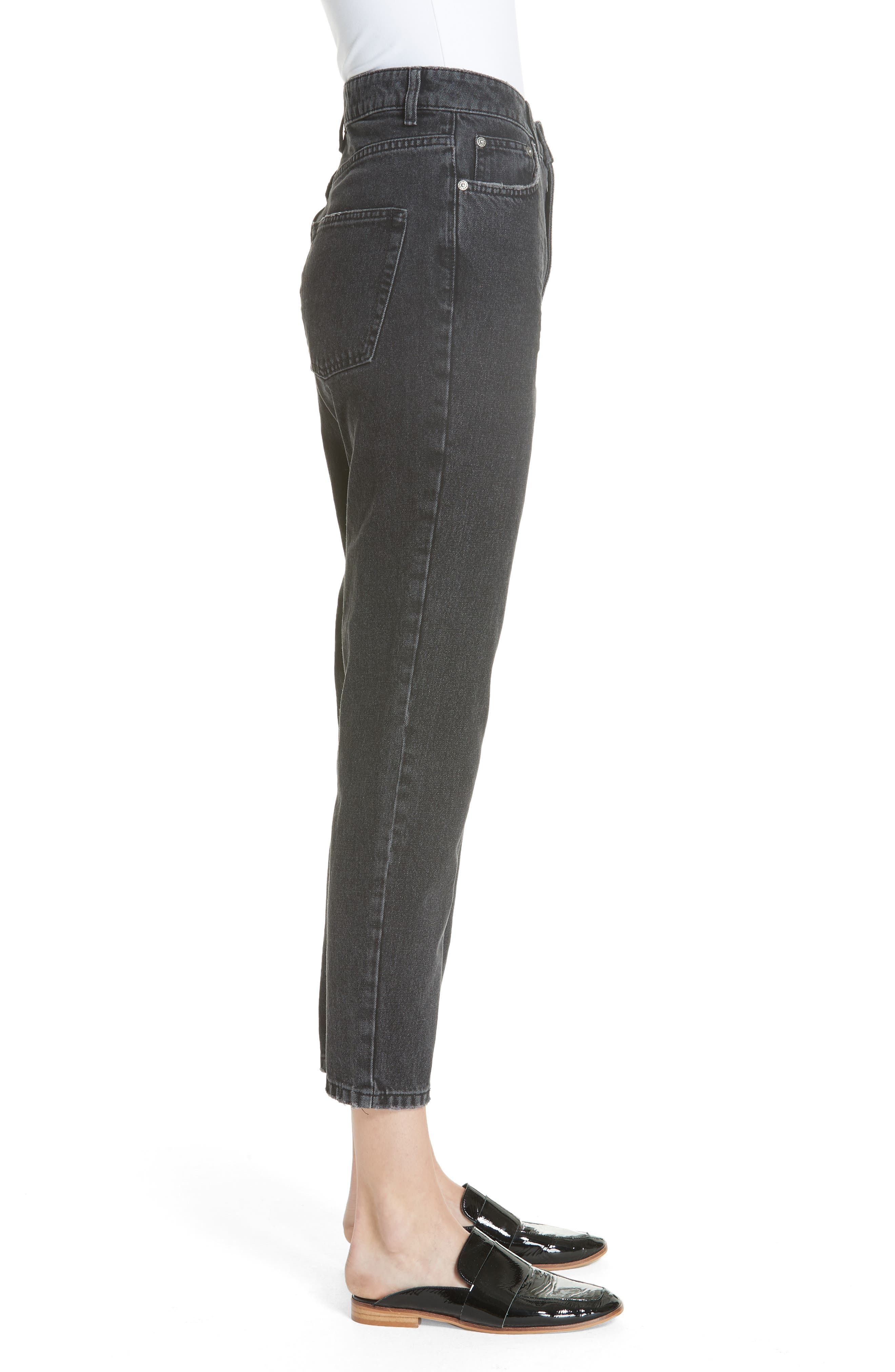 FREE PEOPLE, We the Free by Free People Mom Jeans, Alternate thumbnail 4, color, 001