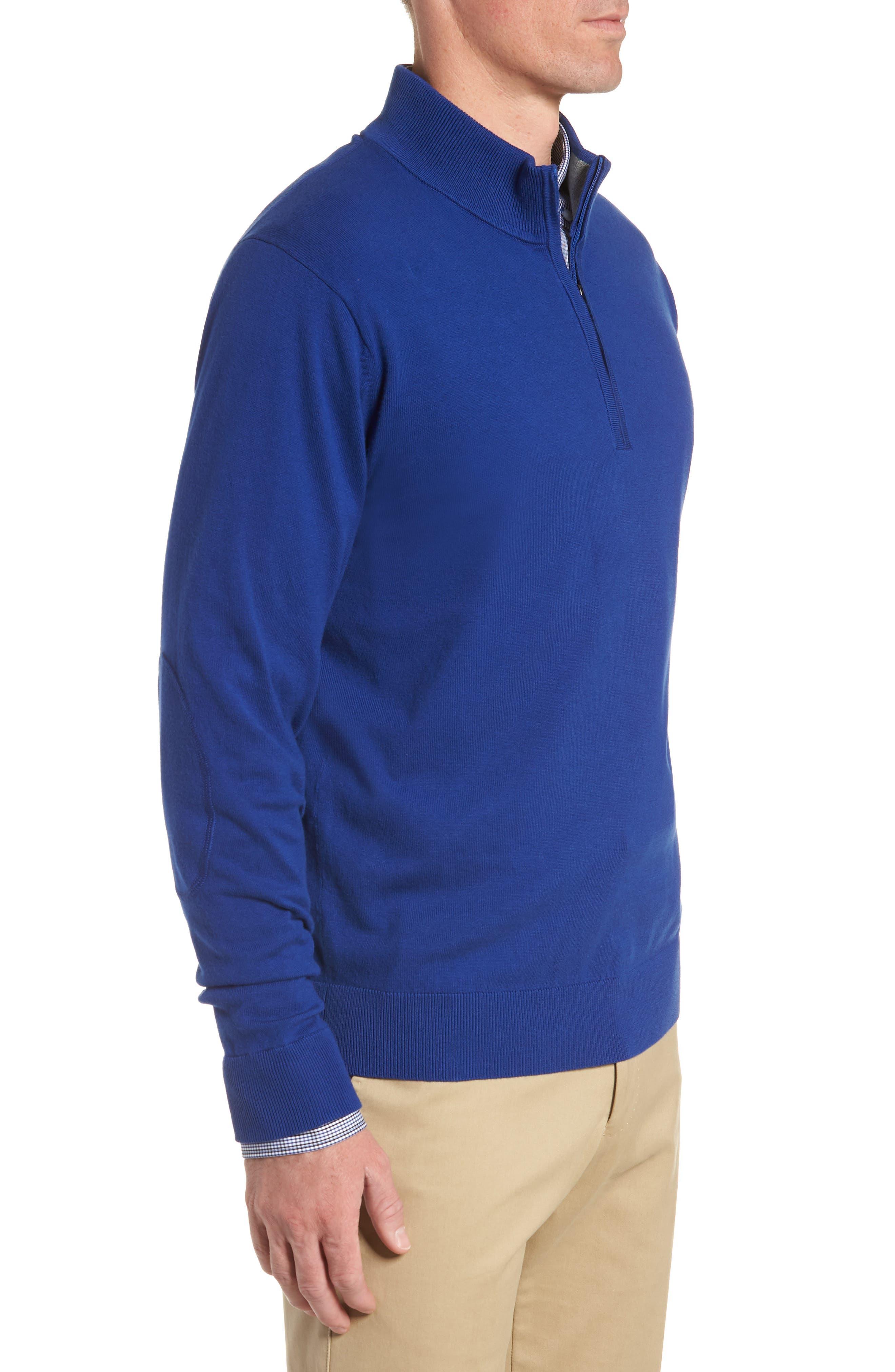 CUTTER & BUCK, Lakemont Half Zip Sweater, Alternate thumbnail 3, color, 419