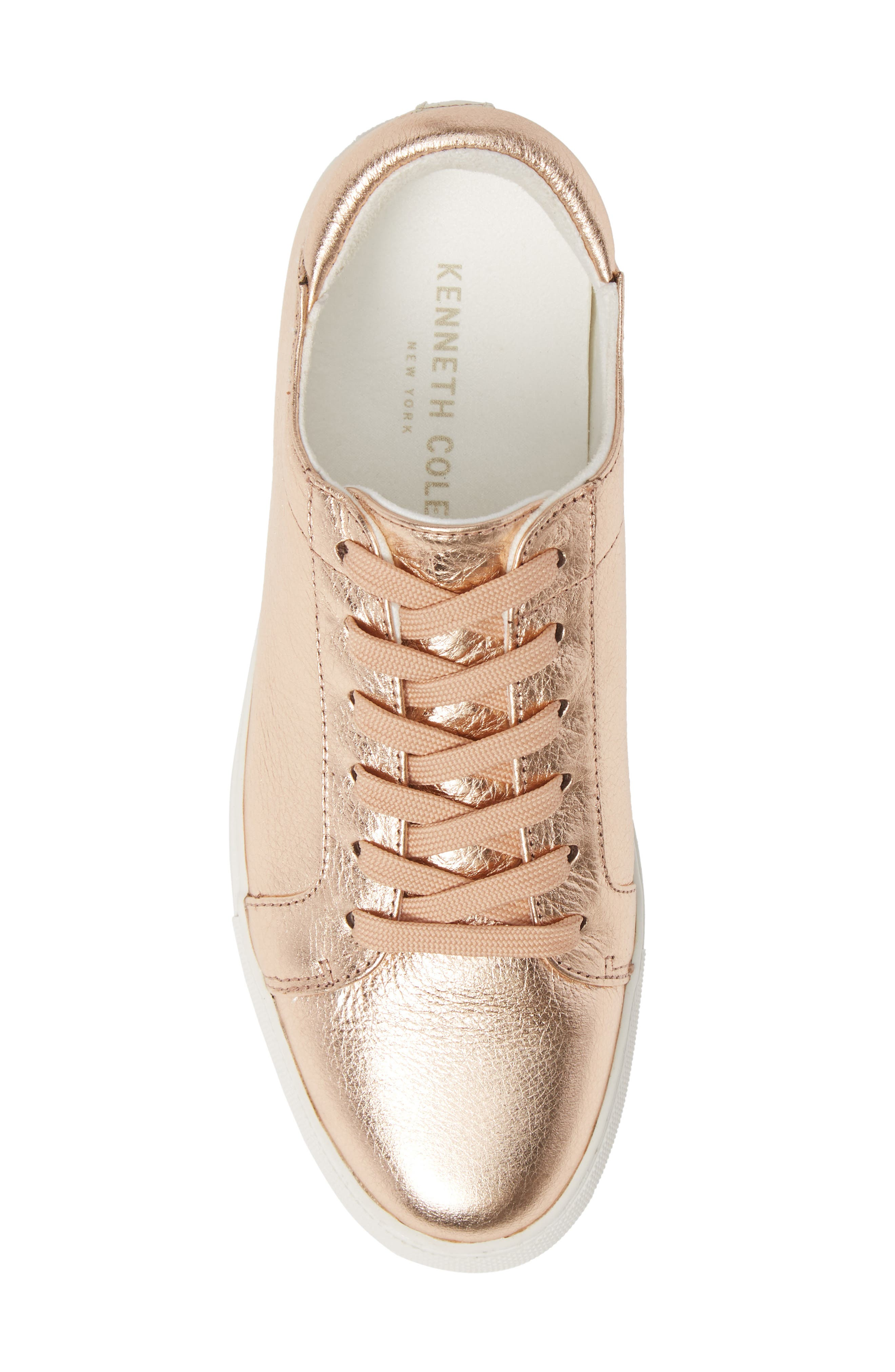 KENNETH COLE NEW YORK, 'Kam' Sneaker, Alternate thumbnail 5, color, ROSE GOLD LEATHER