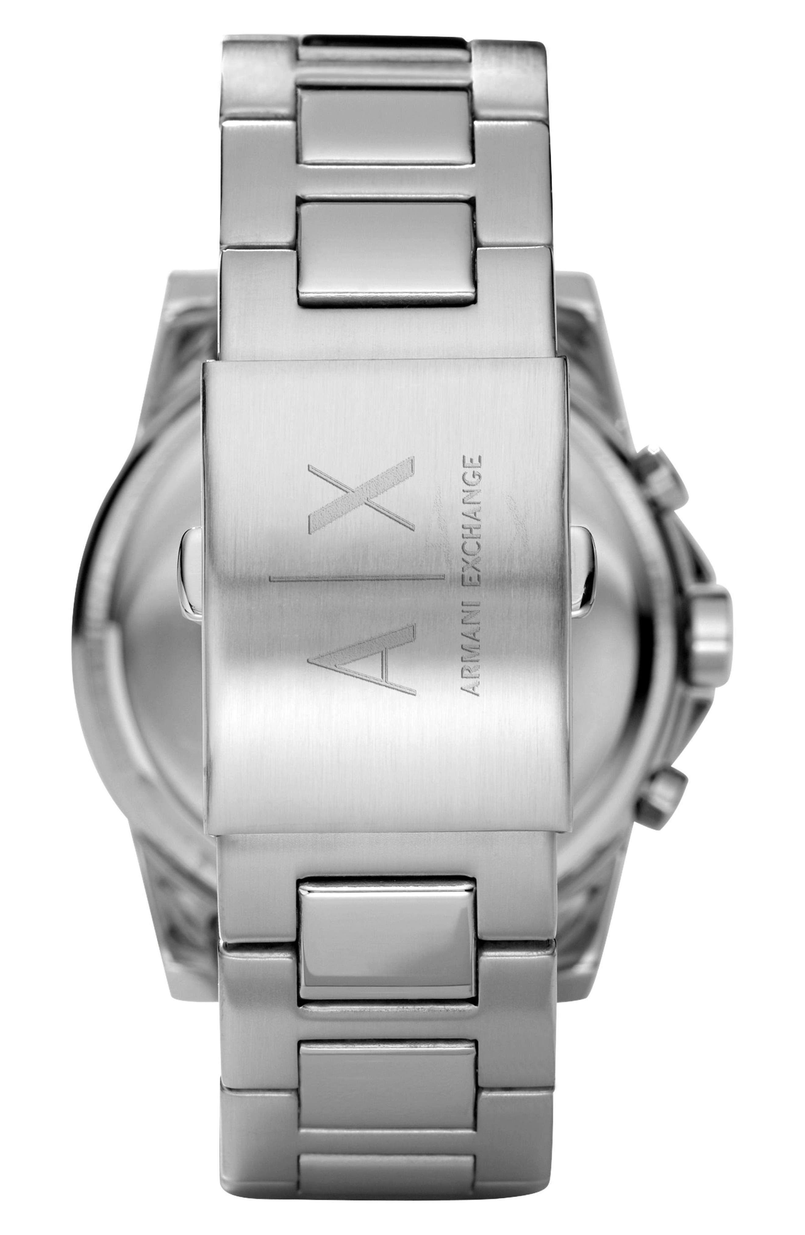 AX ARMANI EXCHANGE, Chronograph Bracelet Watch, 47mm, Alternate thumbnail 2, color, 040