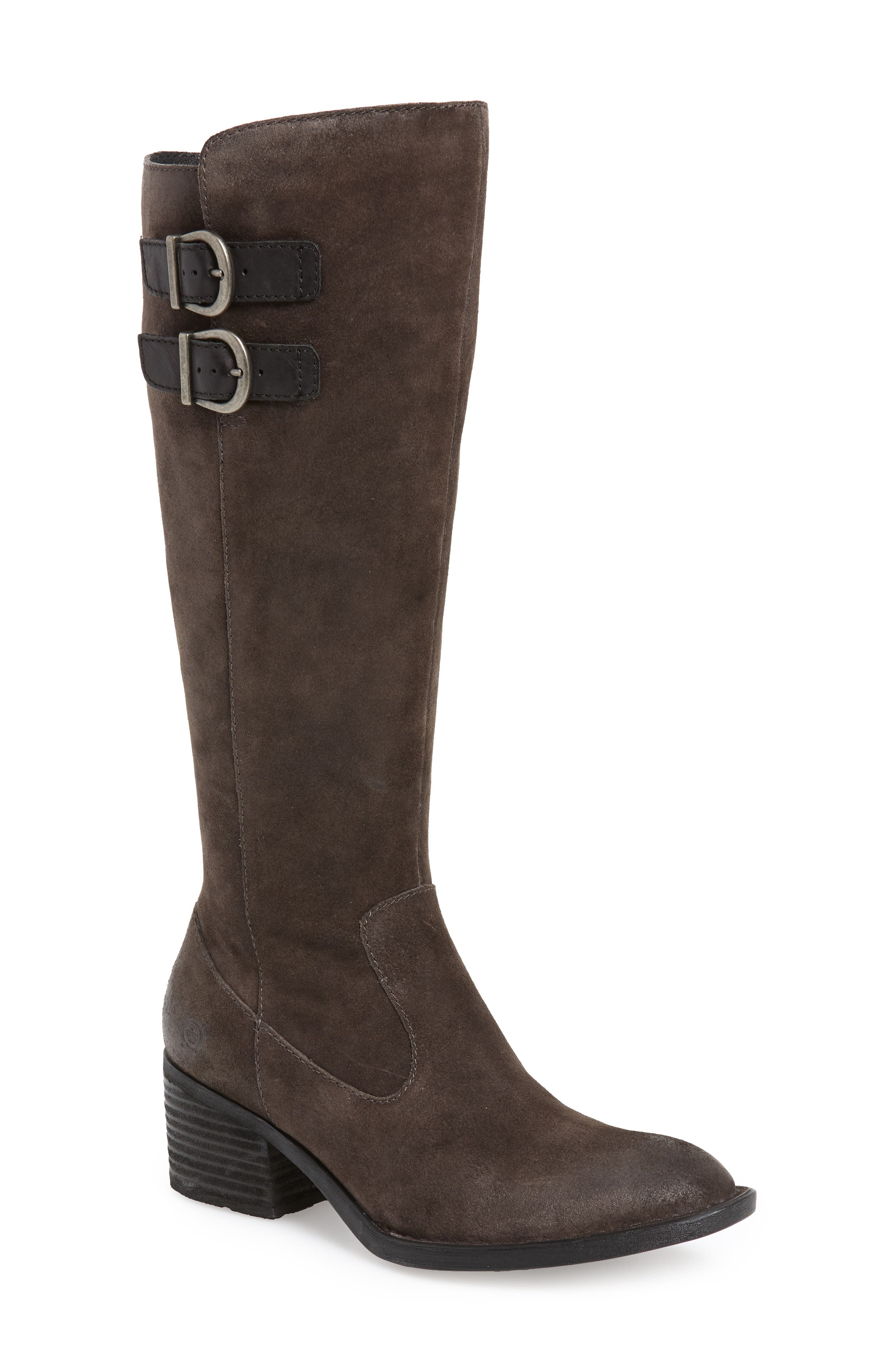BØRN, Basil Boot, Main thumbnail 1, color, GREY DISTRESSED LEATHER