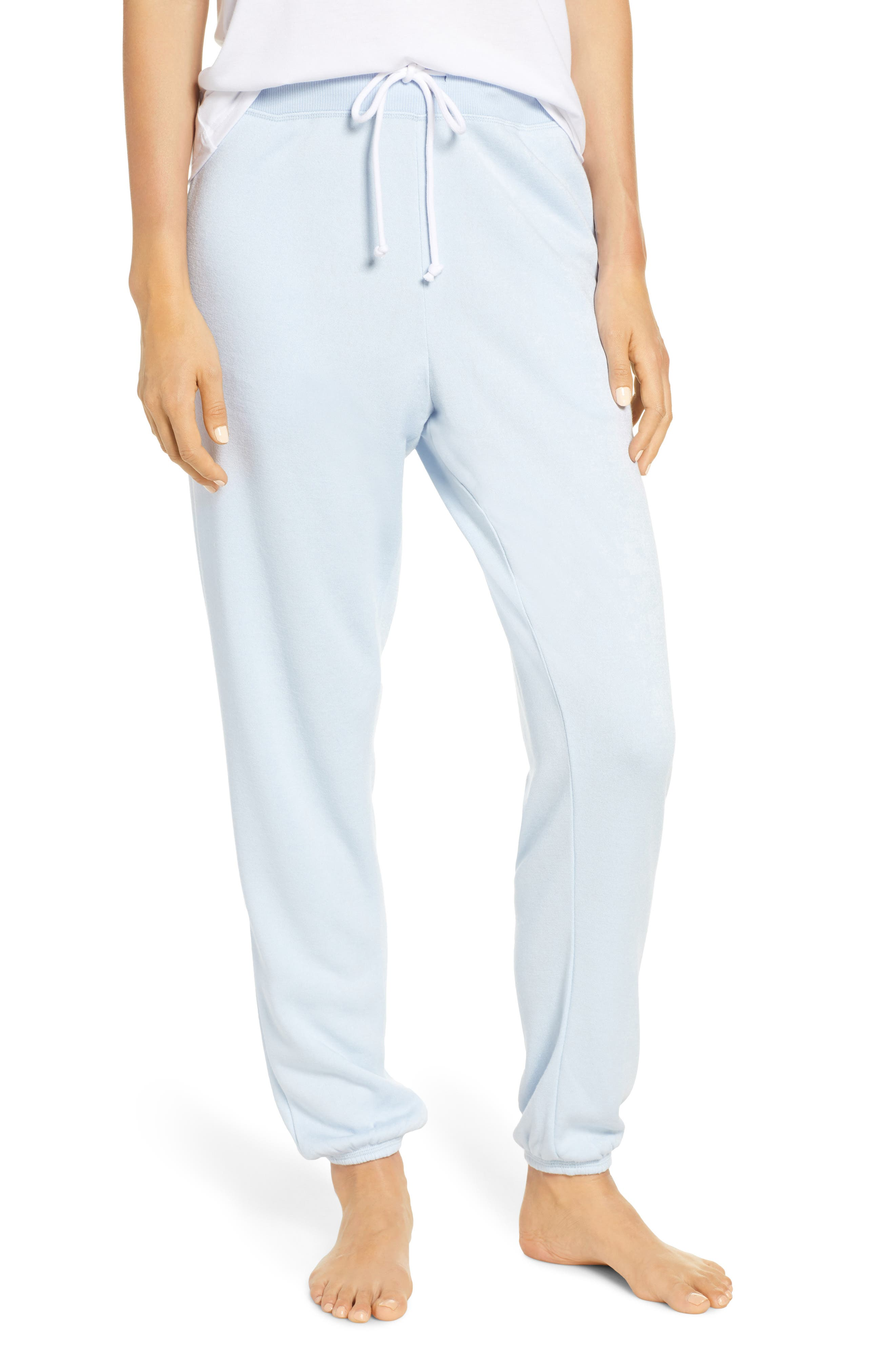 SOMETHING NAVY, Fleece Jogger Pants, Main thumbnail 1, color, BLUE SKYWAY
