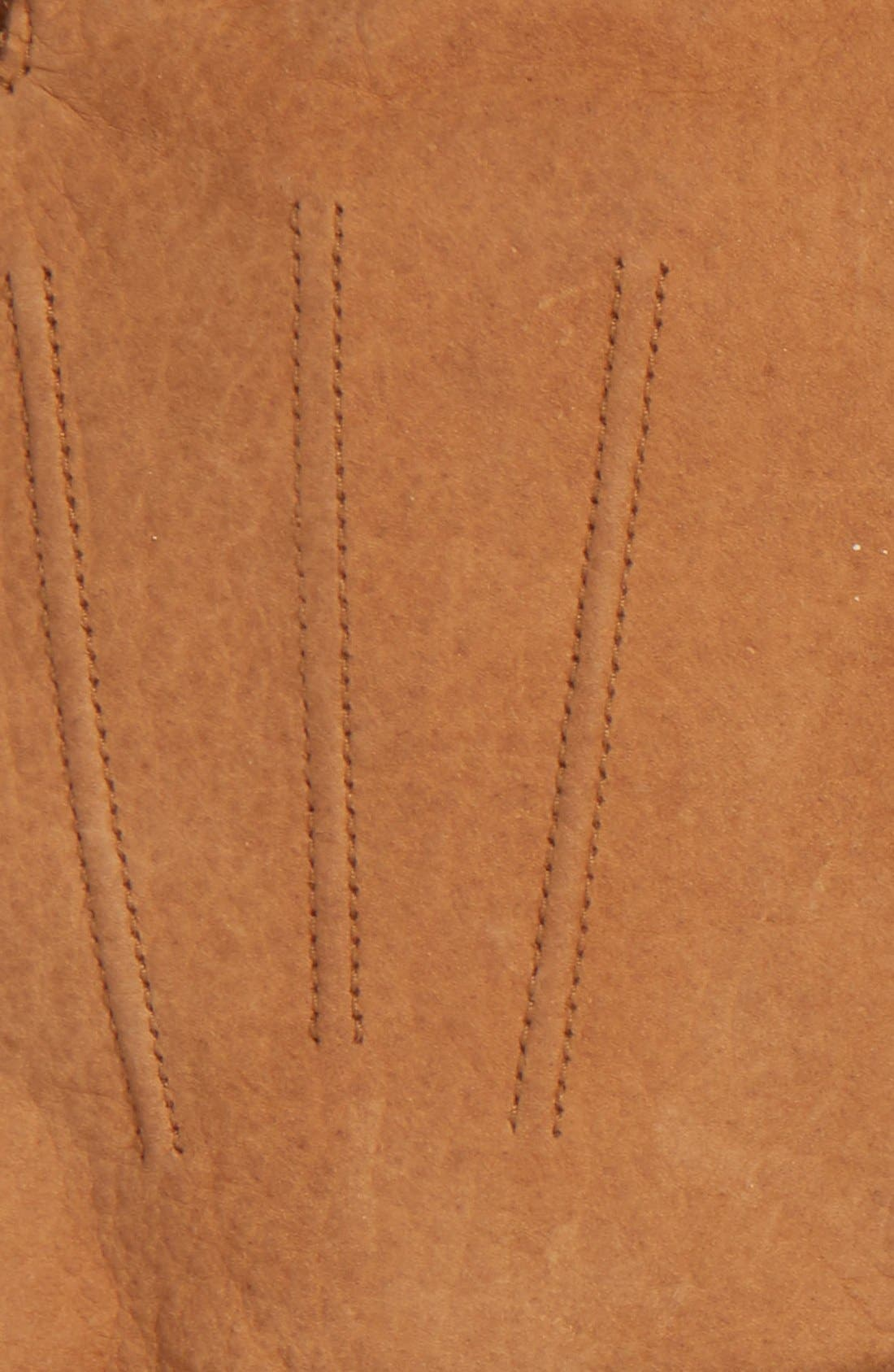 BARBOUR, Leather Gloves, Alternate thumbnail 2, color, TAN