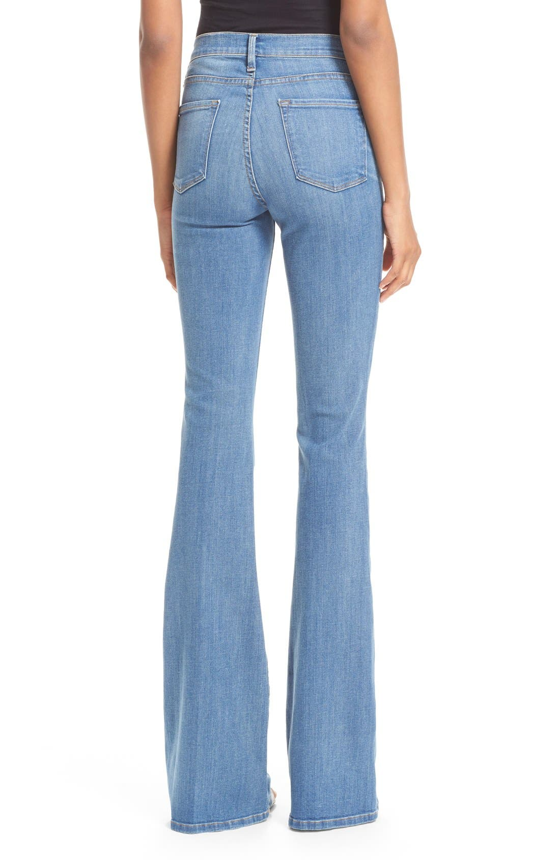 FRAME, Forever Karlie Flare Jeans, Alternate thumbnail 3, color, 401