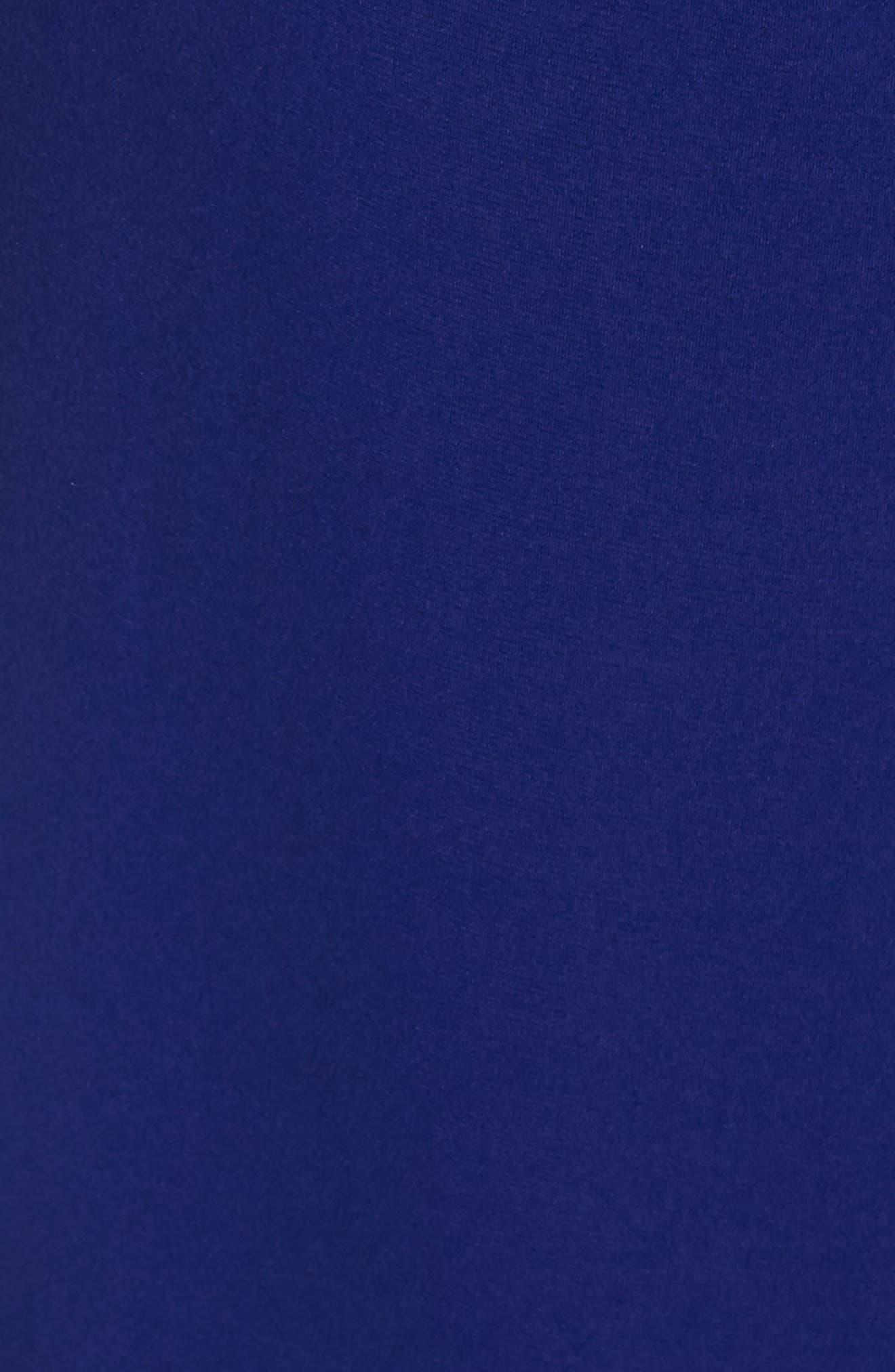 VINCE CAMUTO, High Halter Neck Jumpsuit, Alternate thumbnail 6, color, COBALT