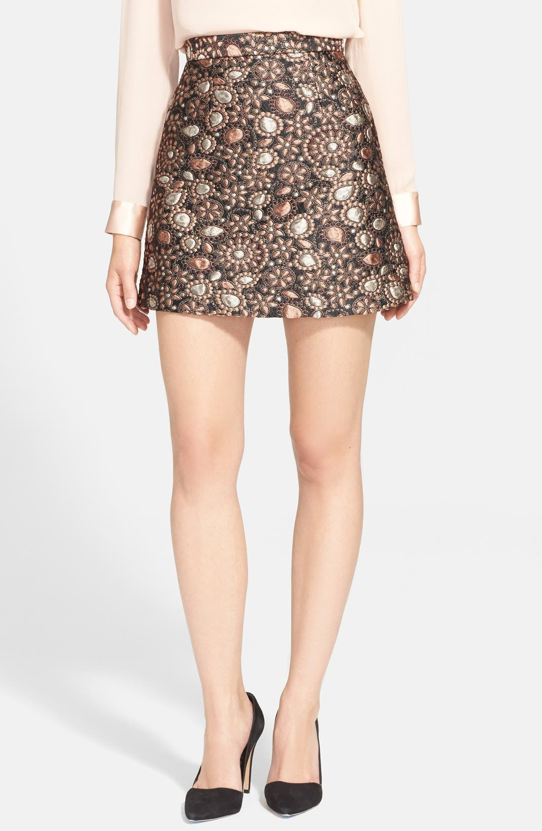 ALICE + OLIVIA 'Jessa' A-Line Skirt, Main, color, 716