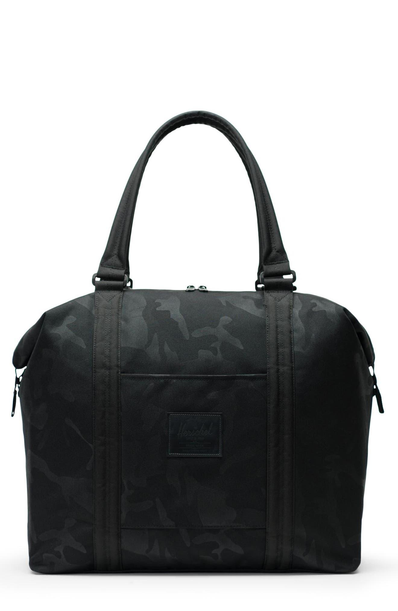 HERSCHEL SUPPLY CO. Strand XL Tote Bag, Main, color, BLACK/ TONAL CAMO