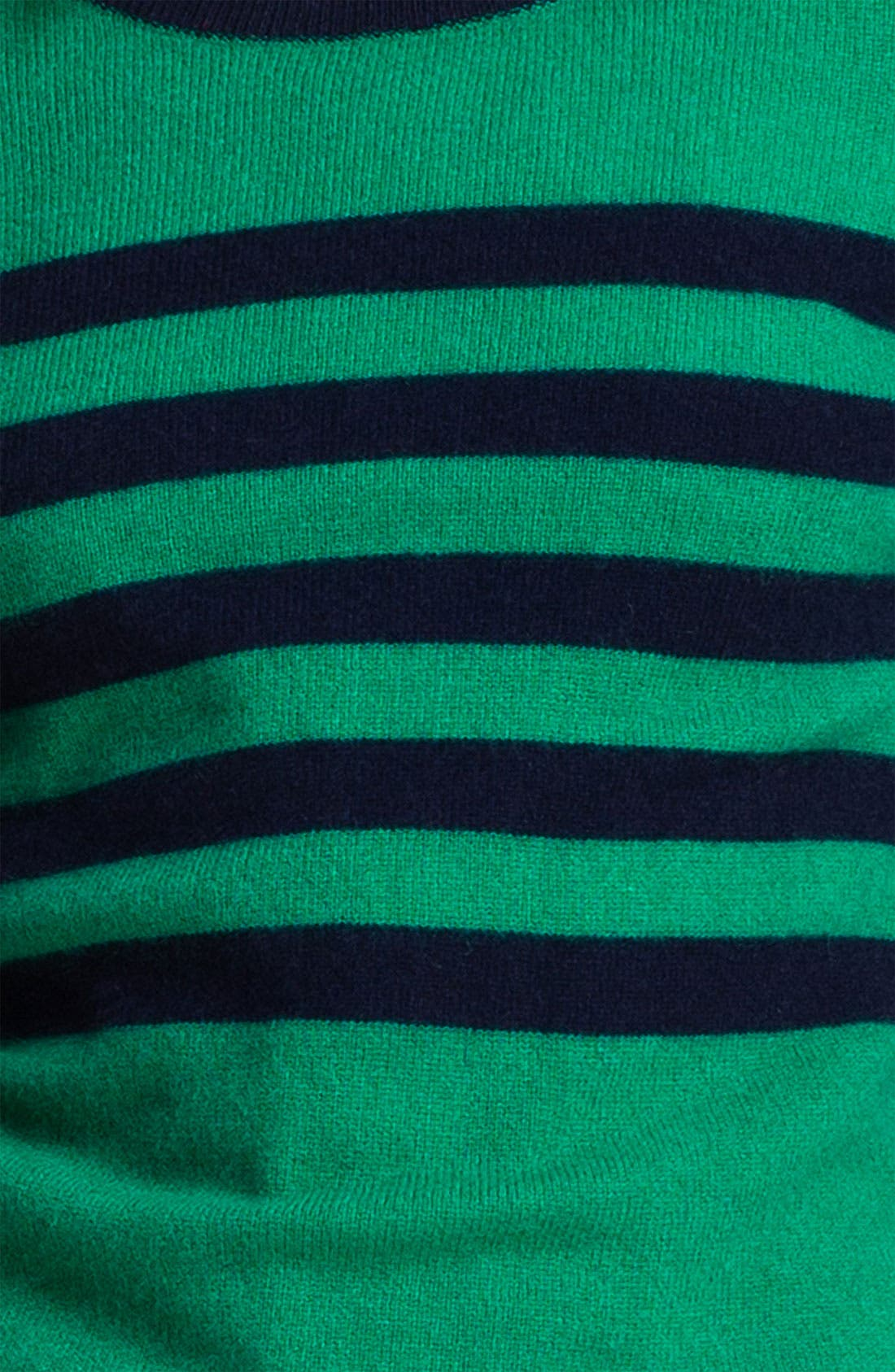 ONLY MINE, Stripe Cashmere Sweater, Alternate thumbnail 3, color, 366