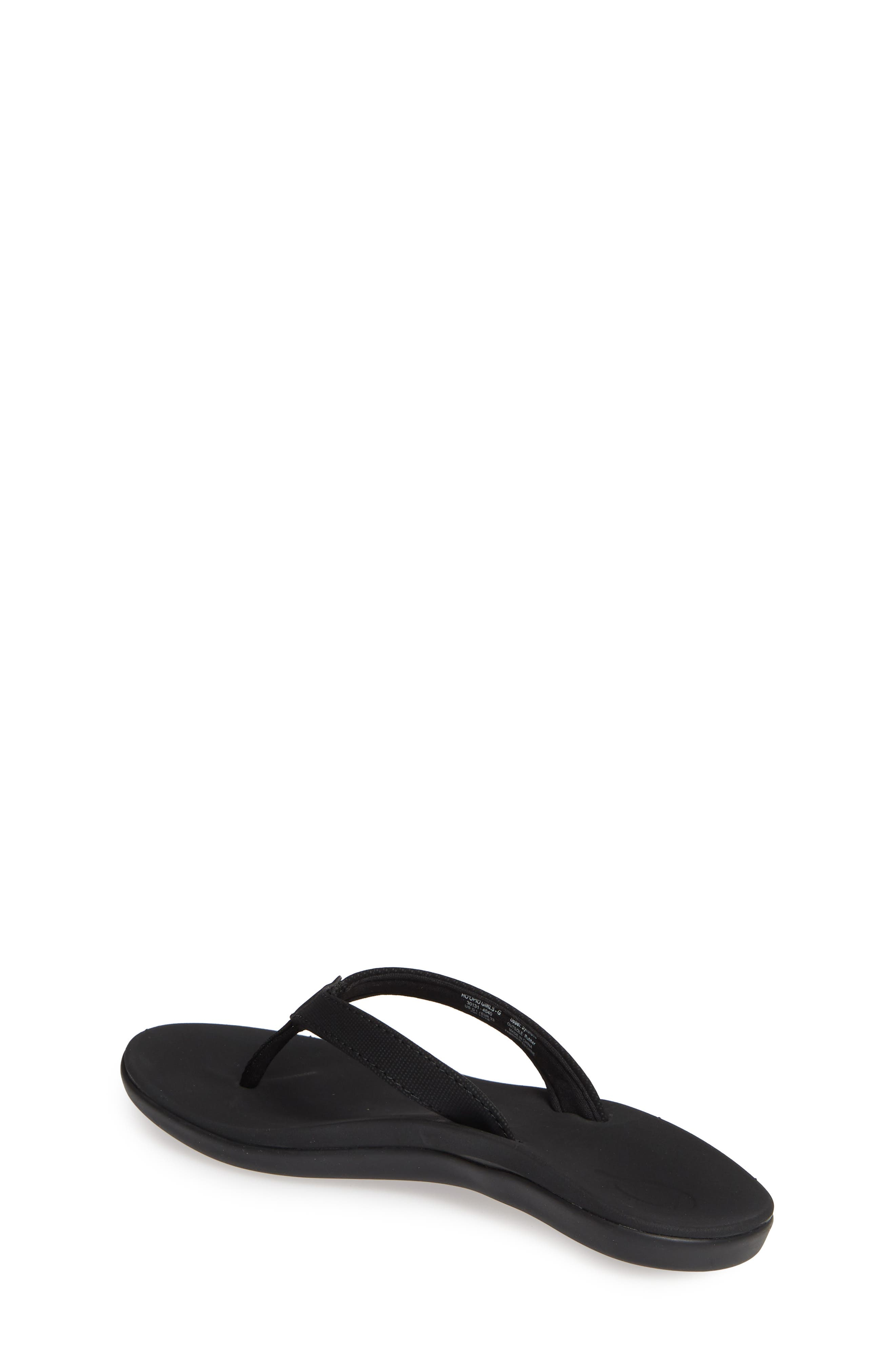 OLUKAI, Ho'opio Flip Flop, Alternate thumbnail 2, color, BLACK/ BLACK