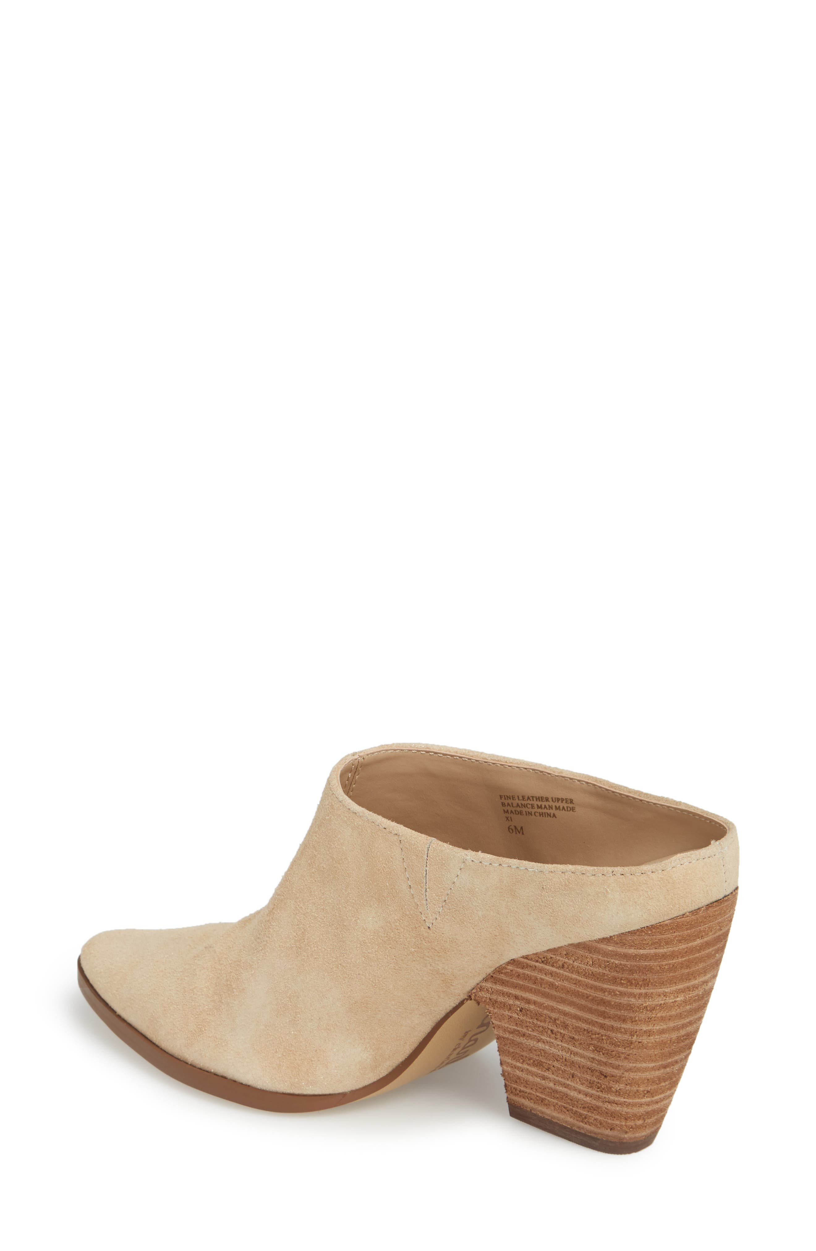CHARLES BY CHARLES DAVID, Nico Mule, Alternate thumbnail 2, color, NUDE LIGHT GOLD SUEDE