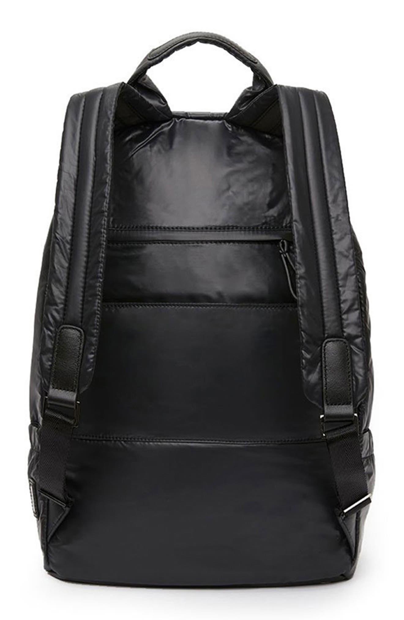 CARAA, Stratus Waterproof Backpack, Alternate thumbnail 4, color, BLACK