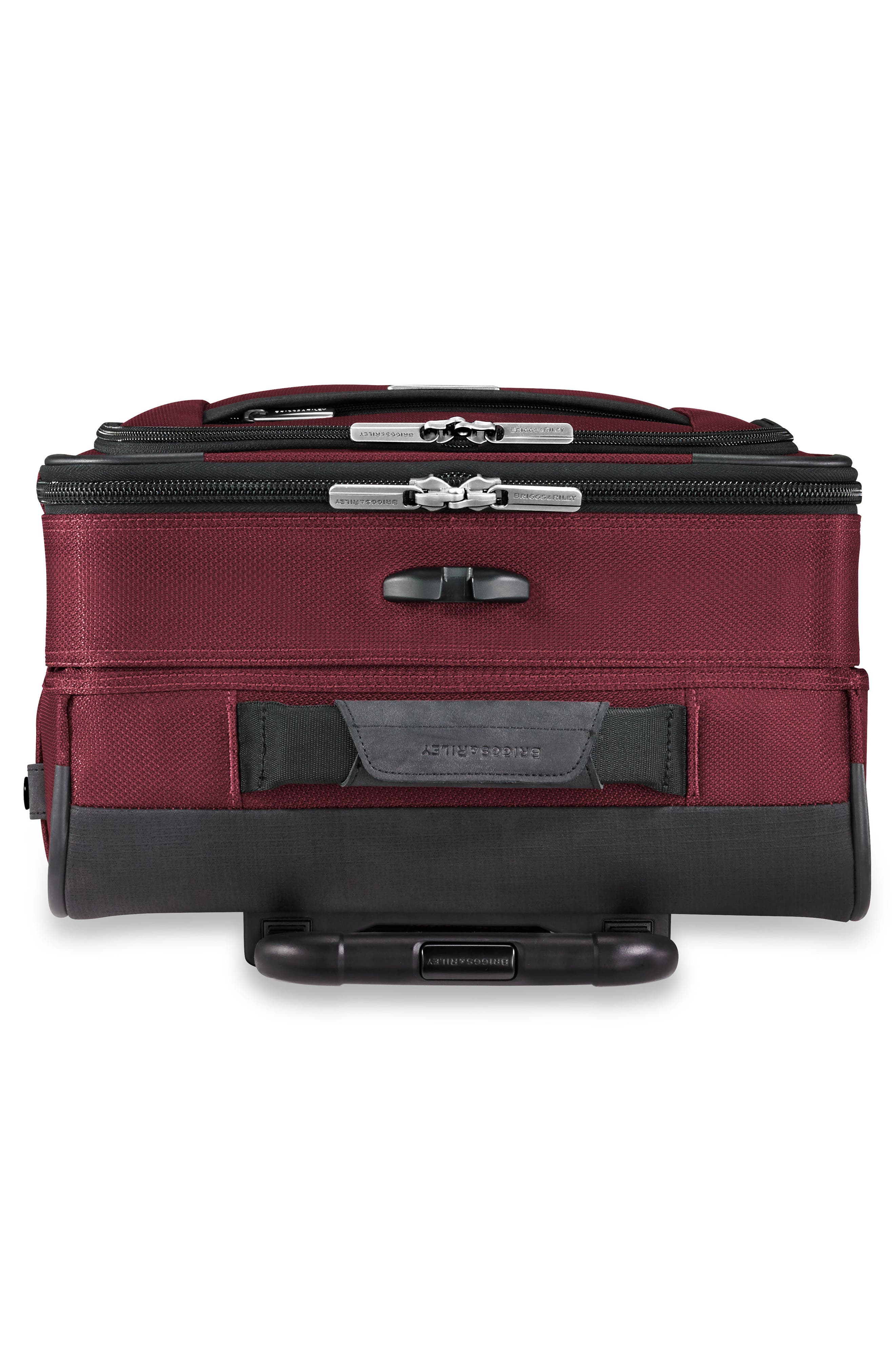 BRIGGS & RILEY, Transcend VX Tall Expandable 22-Inch Spinner Suitcase, Alternate thumbnail 6, color, MERLOT RED