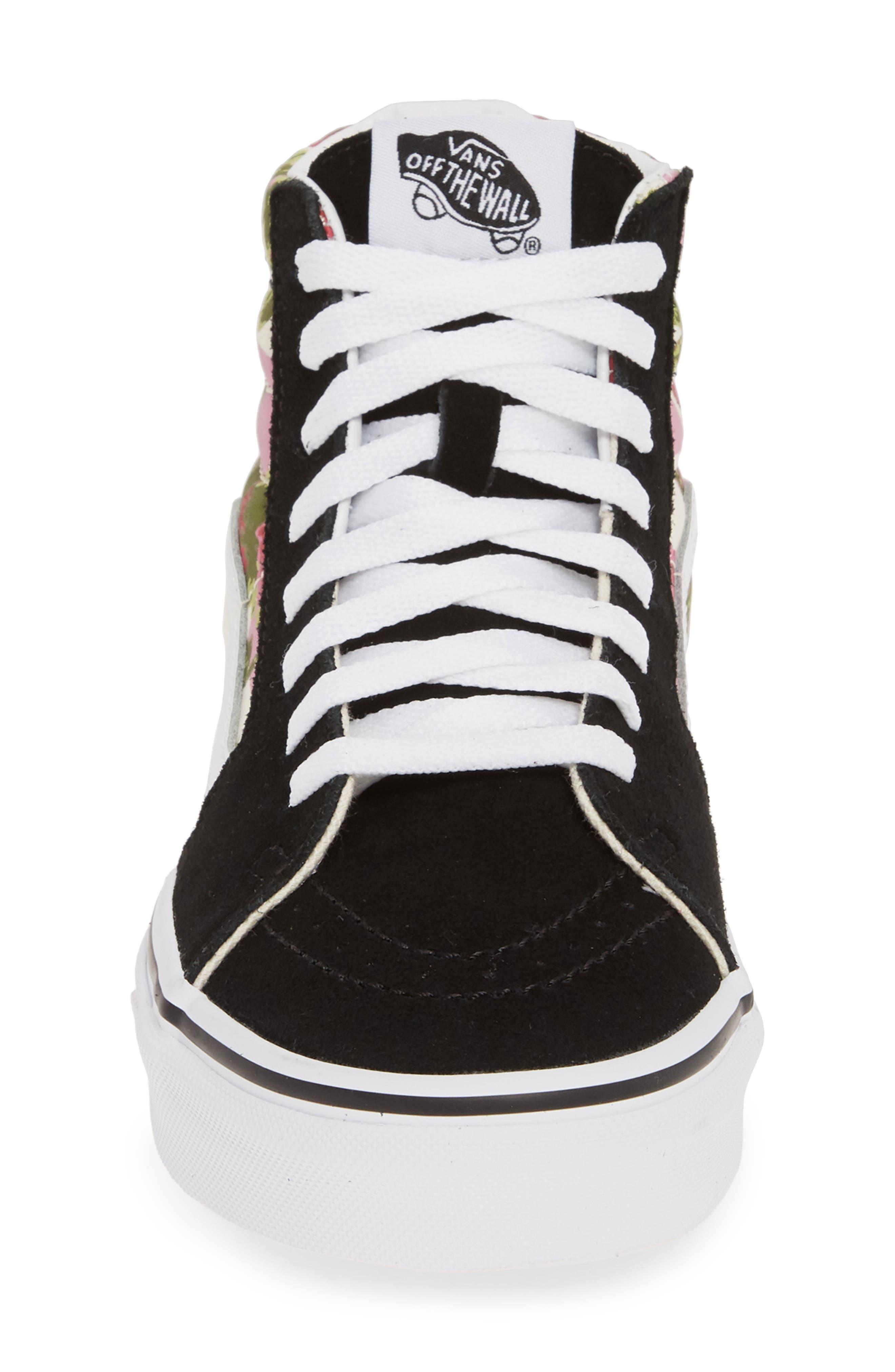 VANS, Sk8-Hi Floral Sneaker, Alternate thumbnail 4, color, FLORAL MULTI/ TRUE WHITE