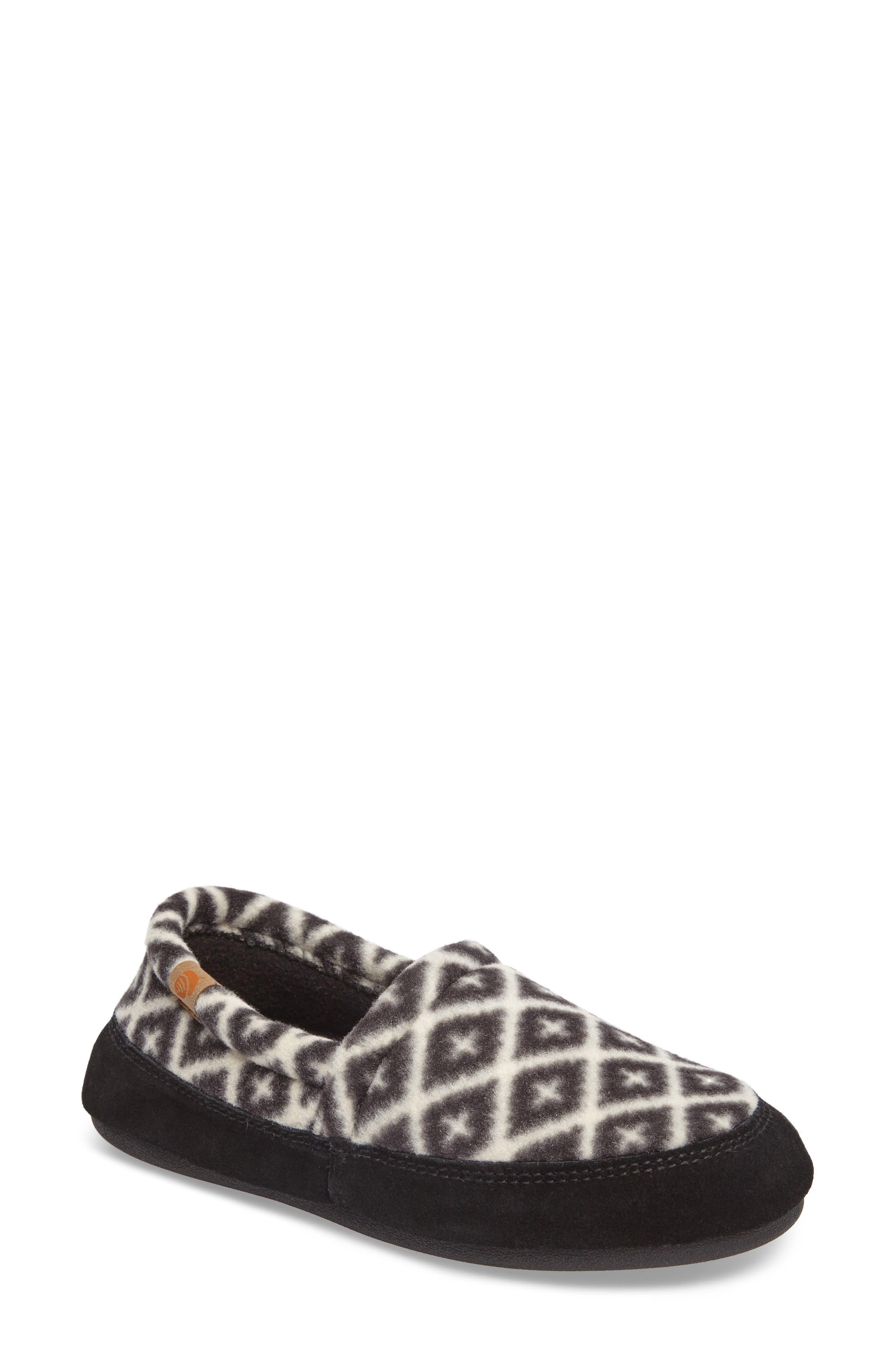 ACORN Moc Slipper, Main, color, BLACK/ CREAM SOUTHWEST