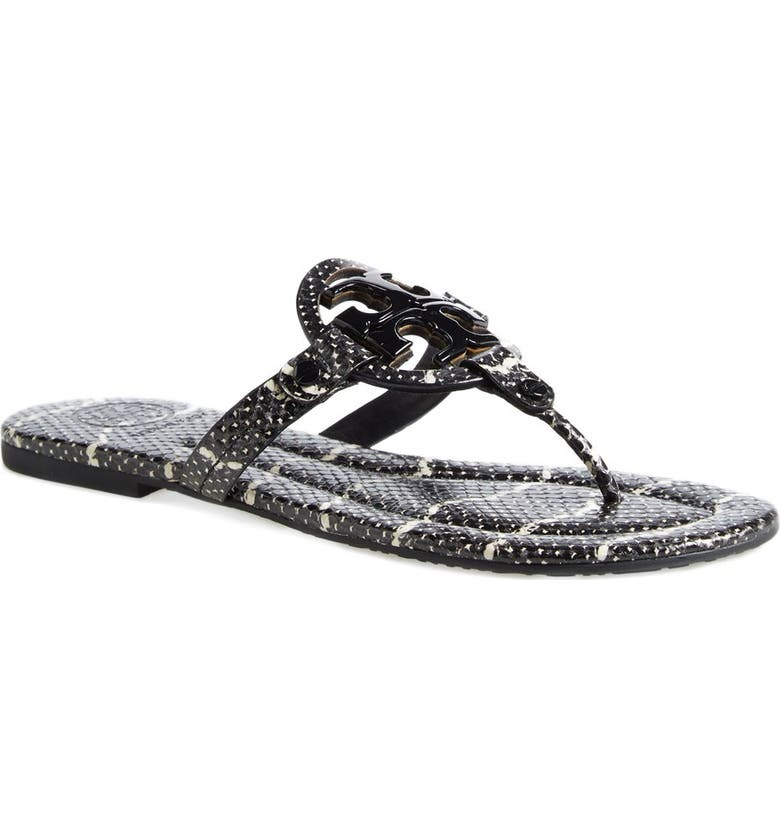 34f655a23 Tory Burch  Miller 2  Snake Embossed Leather Sandal (Women)